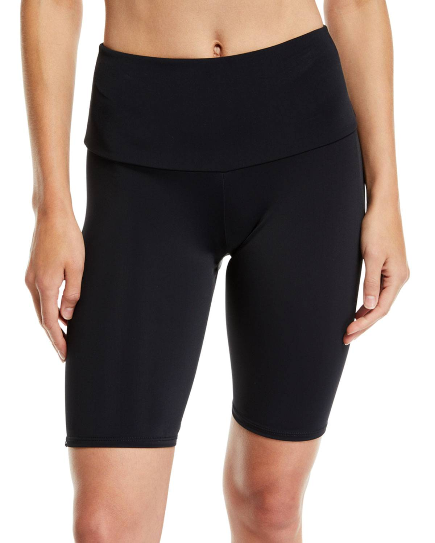 Onzie High-Rise Activewear Bike Shorts  - female - BLACK - Size: Medium