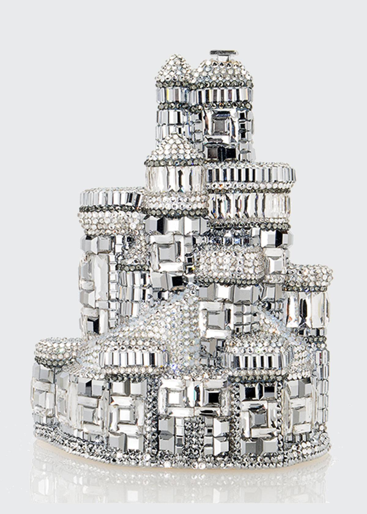 Judith Leiber Couture Schloss Castle Crystal Clutch Bag  - female - SILVER RHINE MULT
