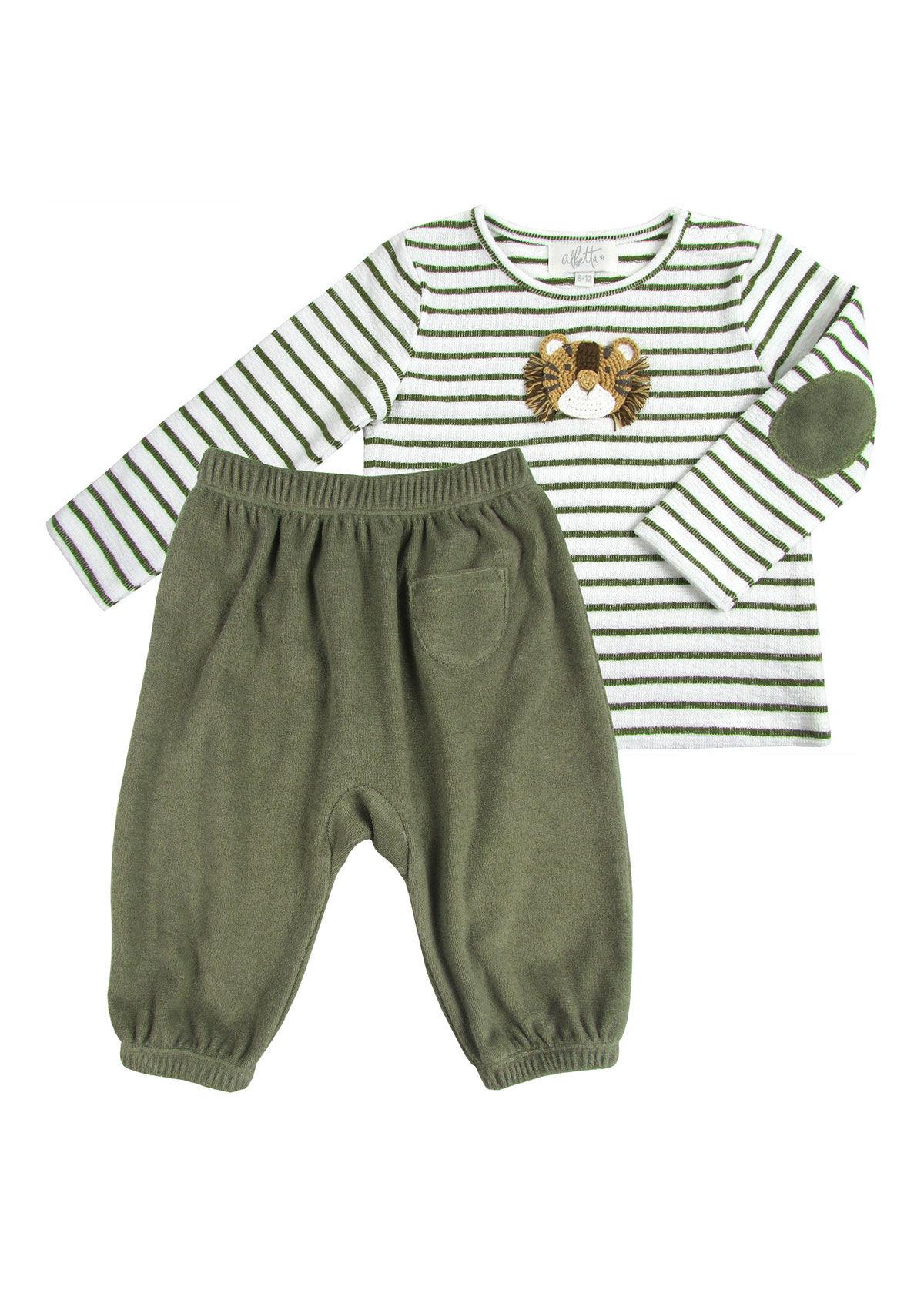 Albetta Crochet Tiger Playset 2 Piece  - male - GREEN - Size: 6-12 Months