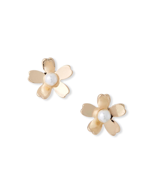 Lele Sadoughi Garden Flower Stud Earrings  - female - WHITE