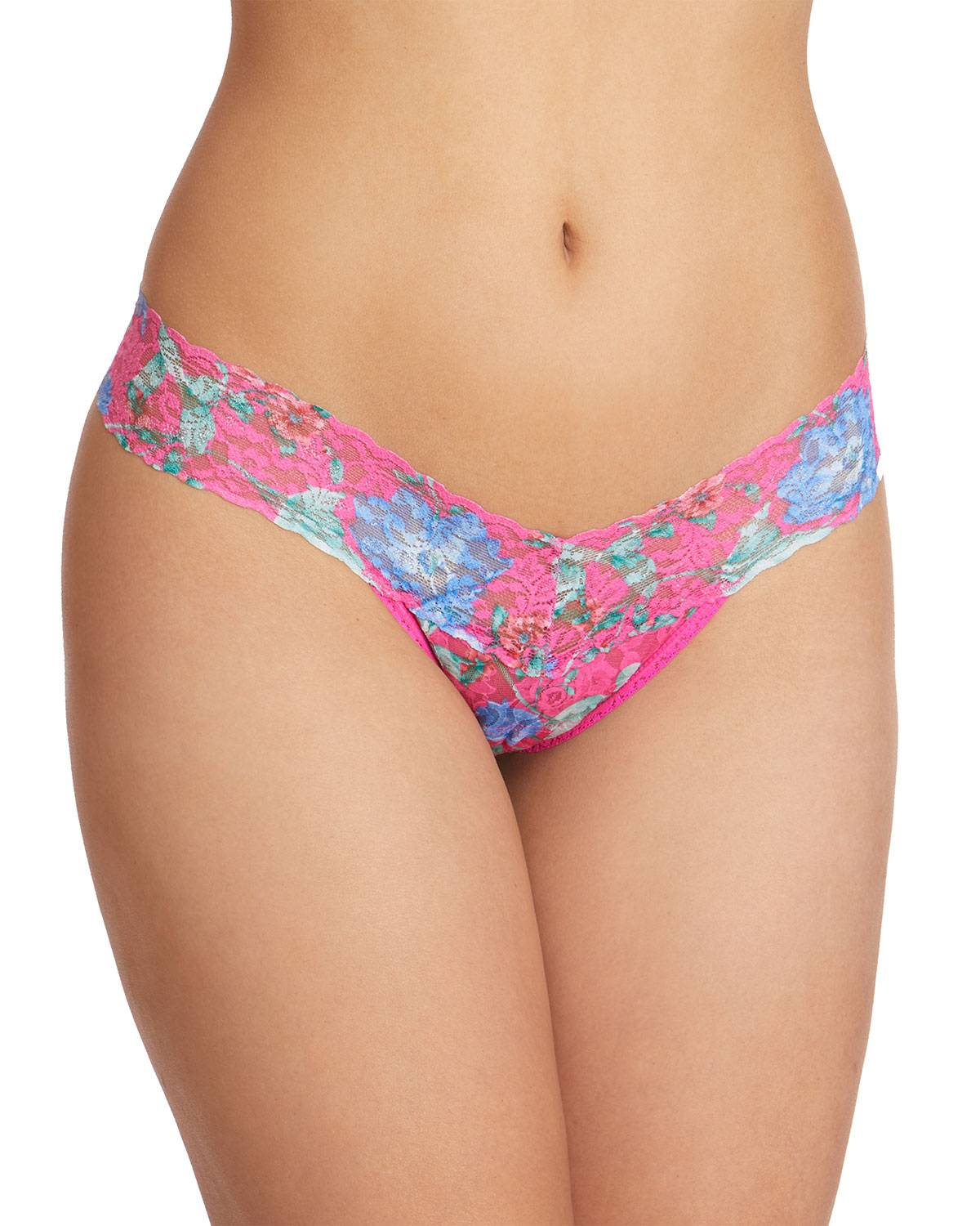 Hanky Panky Electric Garden Low-Rise Signature Lace Thong  - female - MULTI