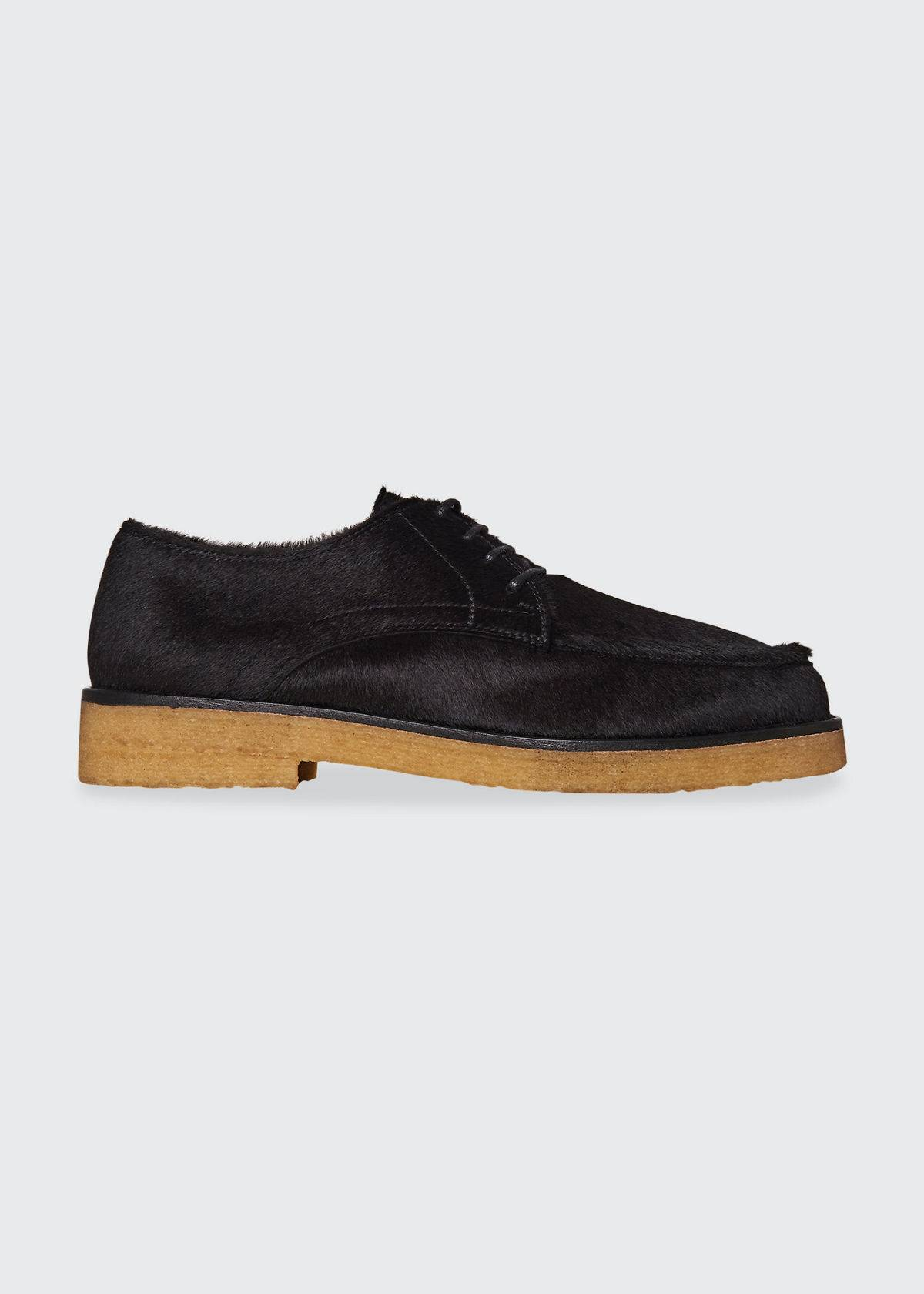 THE ROW Honore Derby Shoes in Calf Hide  - female - BLACK - Size: 9B / 39EU