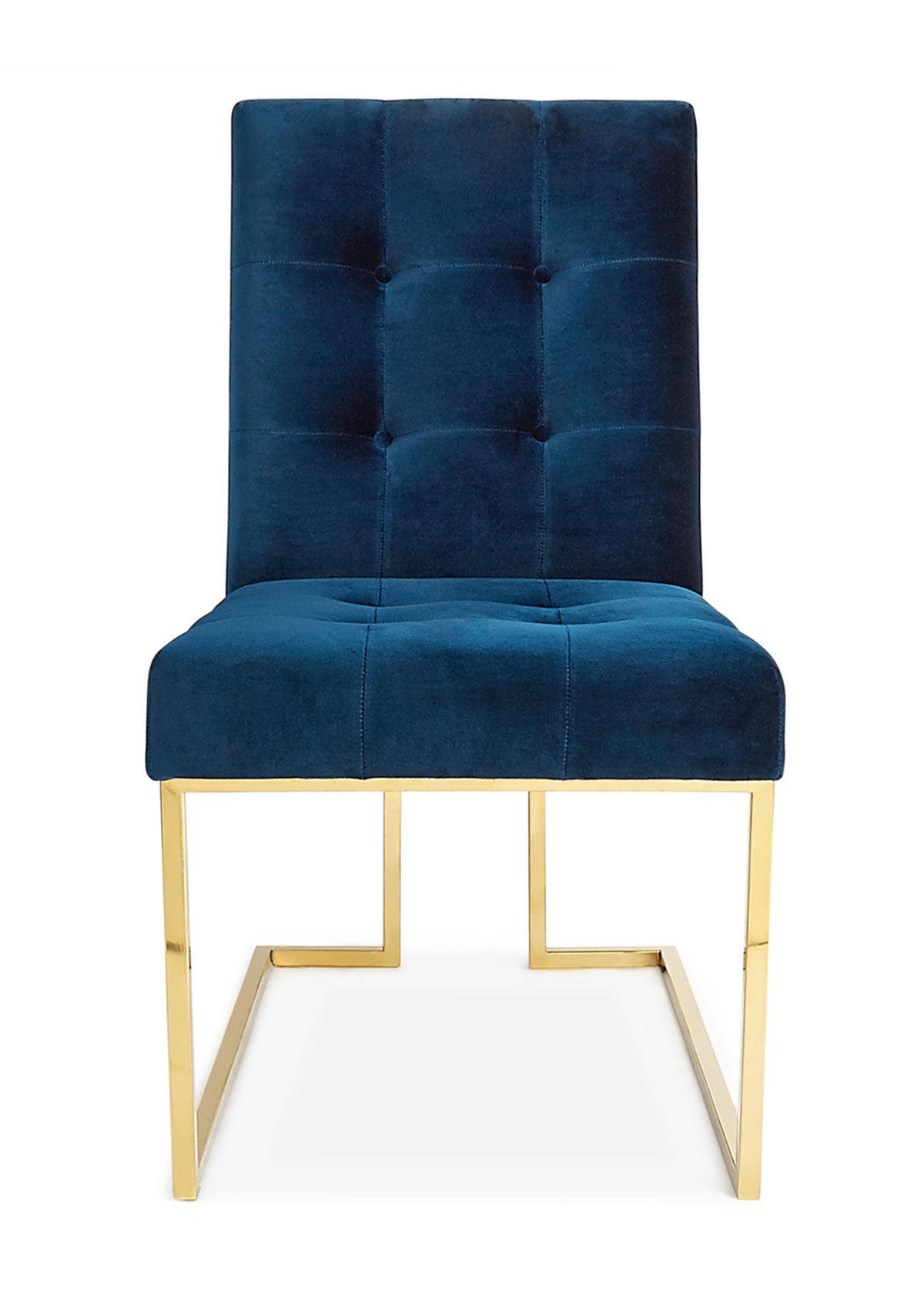 Jonathan Adler Goldfinger Navy Dining Chair  - unisex - NAVY