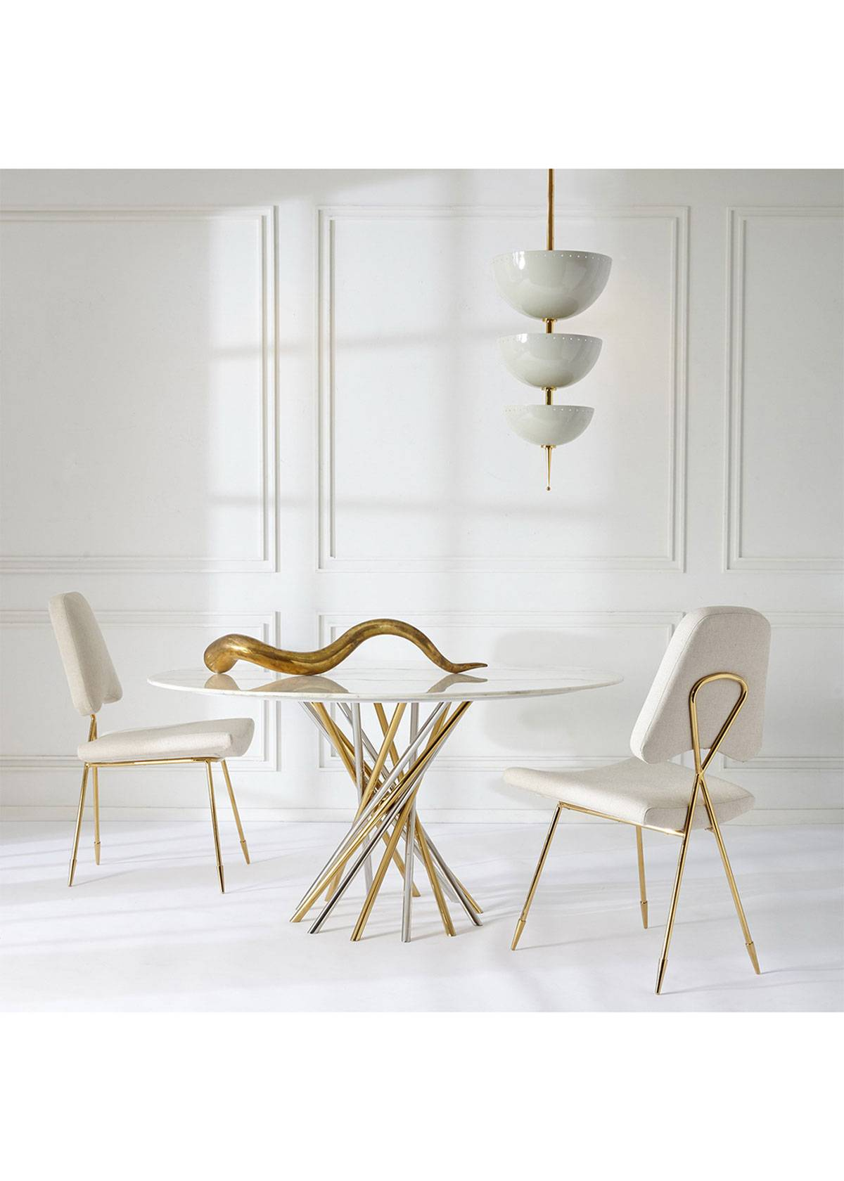 Jonathan Adler Electrum Dining Table  - Size: unisex
