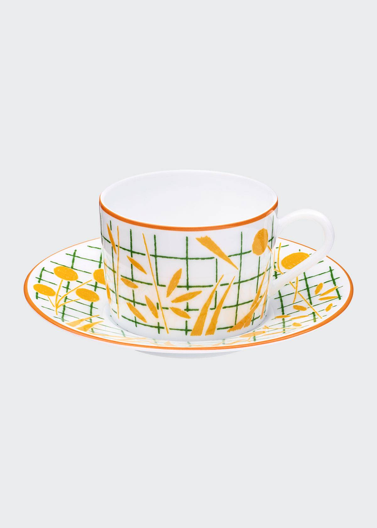Herm s A Walk in the Garden Teacup & Saucer  - Size: unisex