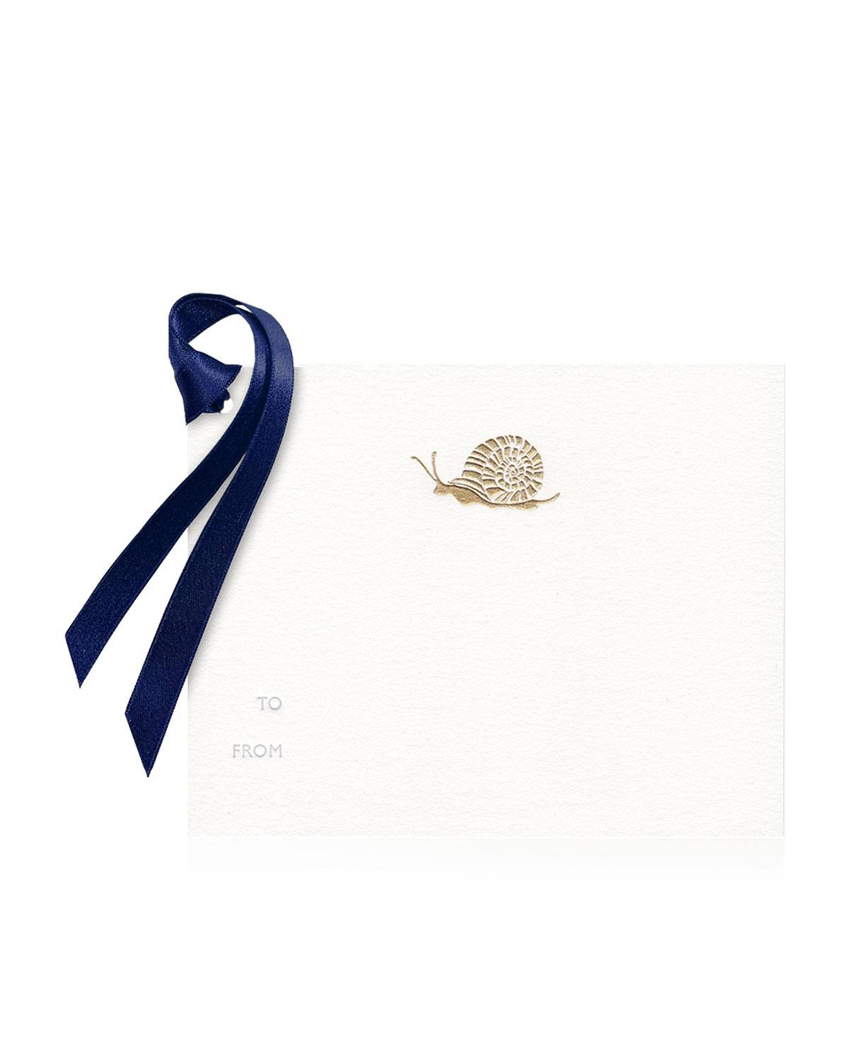 Bell'INVITO Garden Snail Gift Tags - Set of 8  - WHITE