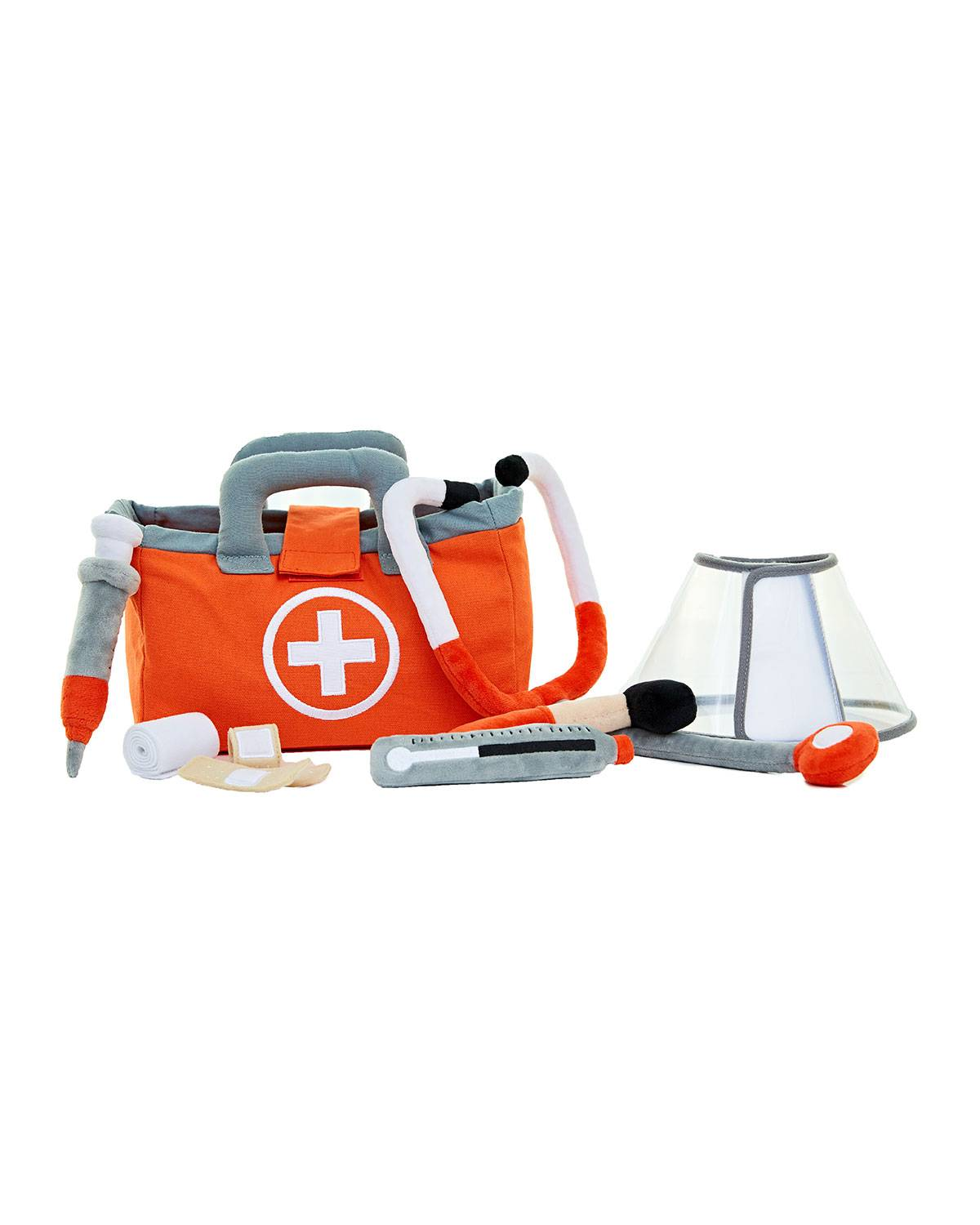 ASWEETS Pretend Play Plush Doctor/Vet Set  - RED
