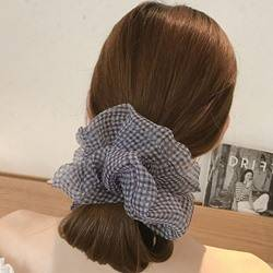 Korean Style Lady/Womens Plaid Pattern Yarn Material Hair Rope Accessories