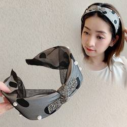 Korean Style Womens Hair Accessories Polka Dots Hairband for Gift