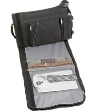 JOS Bankroll Rolling Luggage with Garment Bag