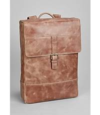 JOS A. Bank Leather Laptop Backpack