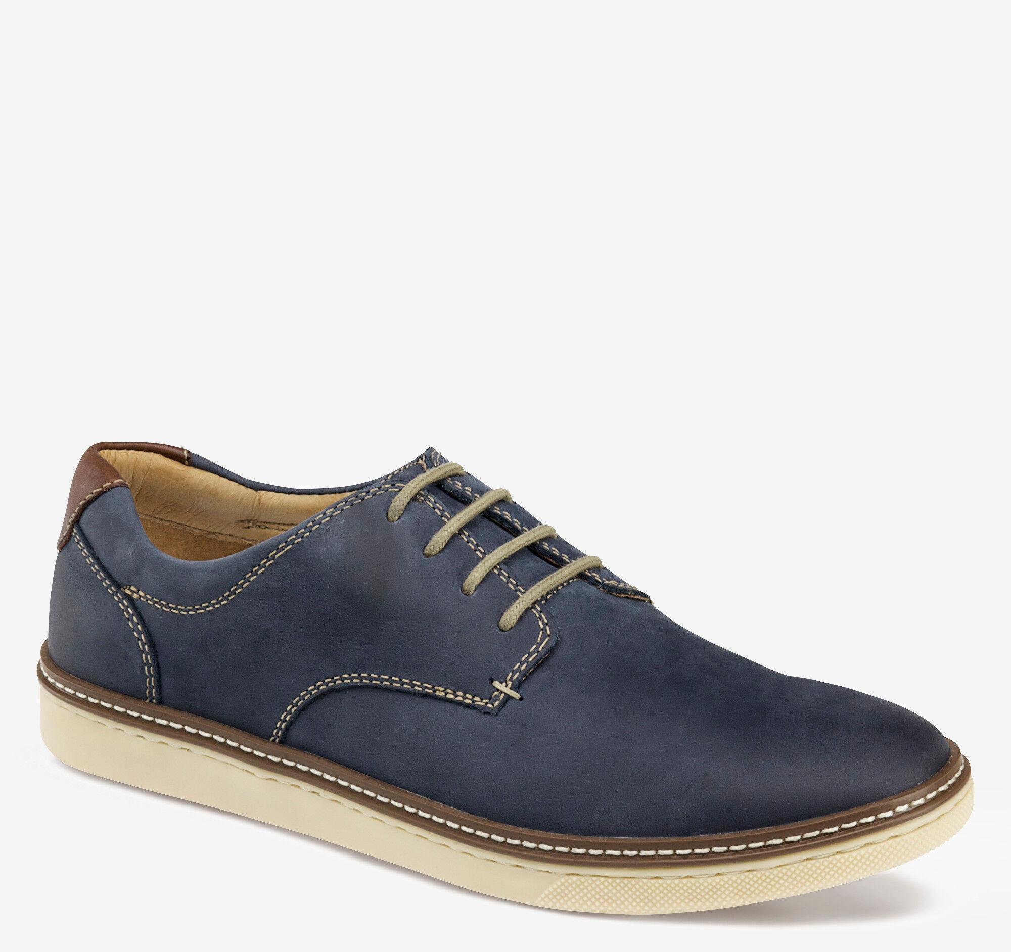Johnston & Murphy Men's McGuffey Plain Toe Shoe - Navy Oiled Full Grain - Size 12 - M