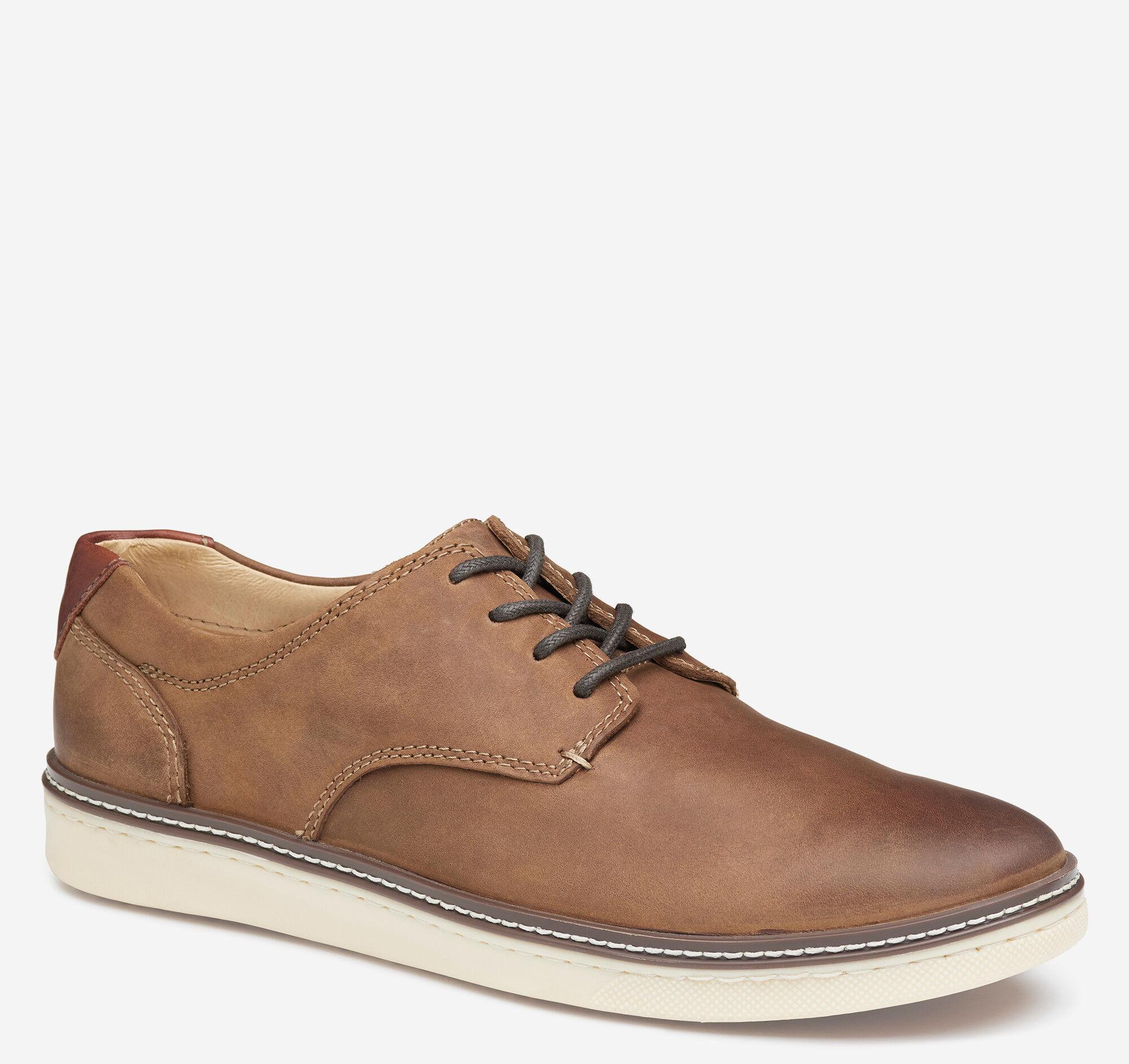Johnston & Murphy Men's McGuffey Plain Toe Shoe - Tan Oiled Full Grain - Size 10 - M