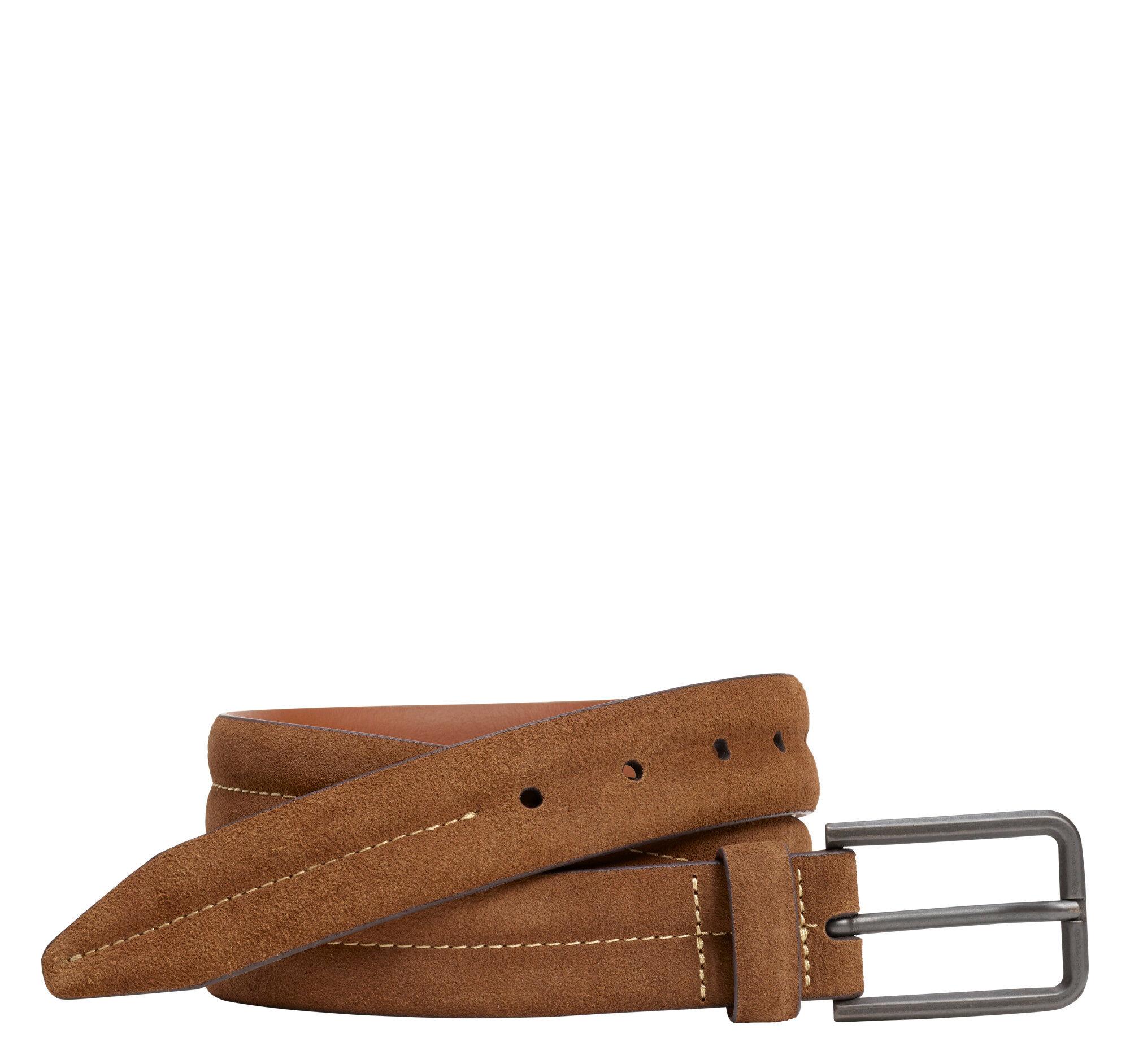 Johnston & Murphy Men's Center-Stitched Distressed Belt - Cinnamon - Size 44