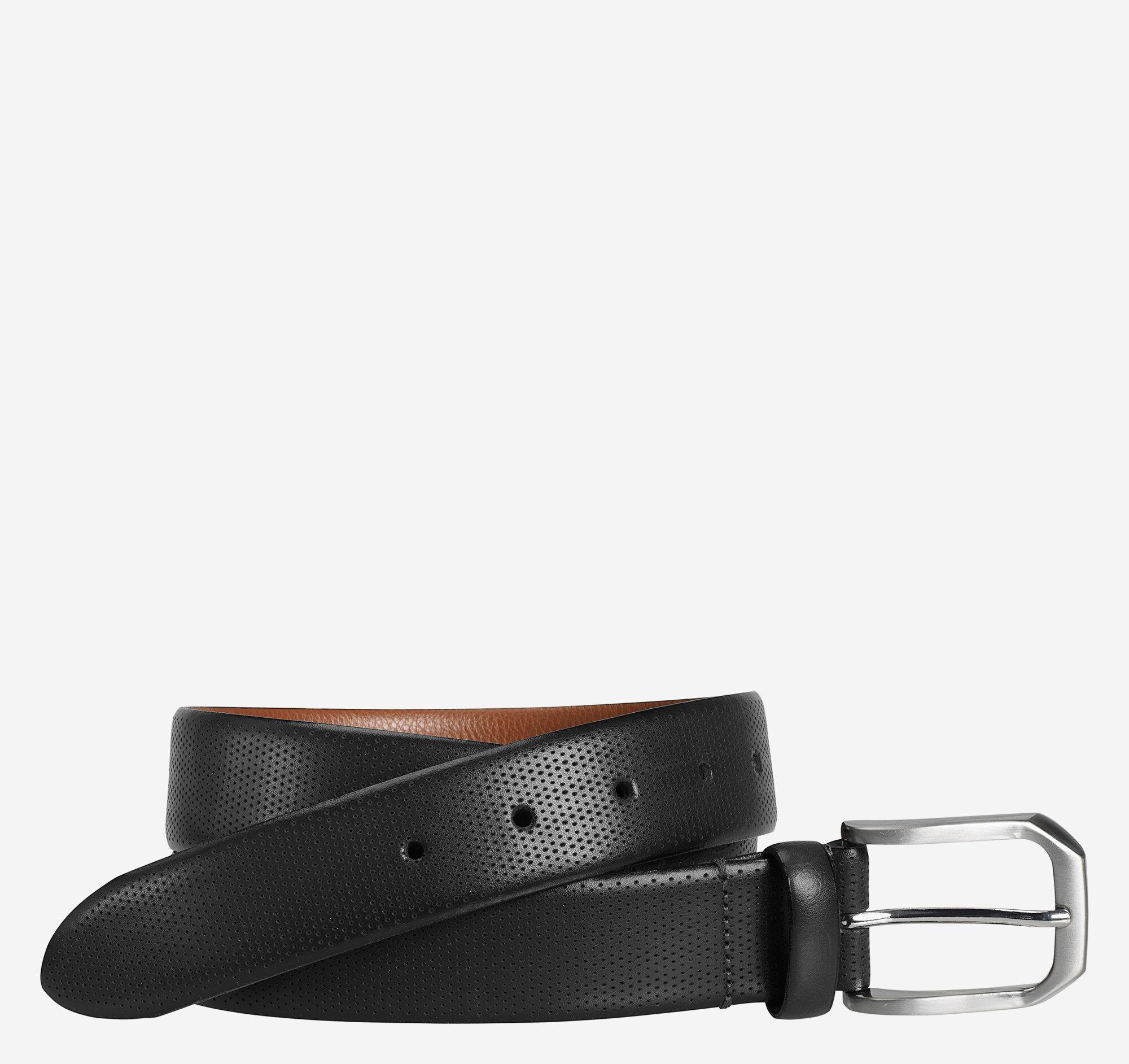 Johnston & Murphy Men's Micro Perf Belt - Black - Size 38