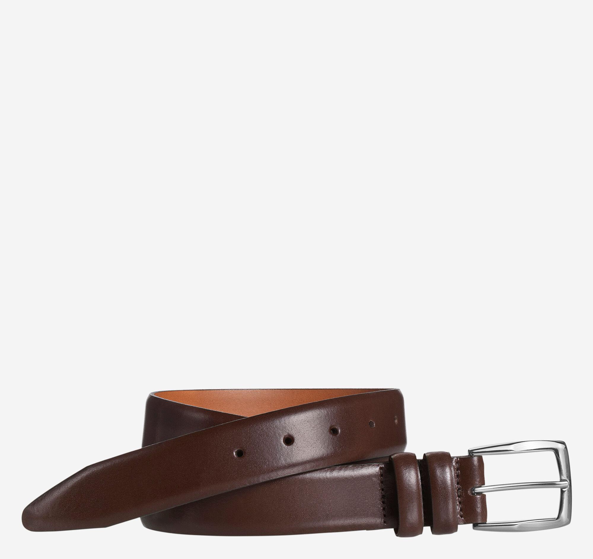 Johnston & Murphy Men's Feather Edge Belt - Brown - Size 42