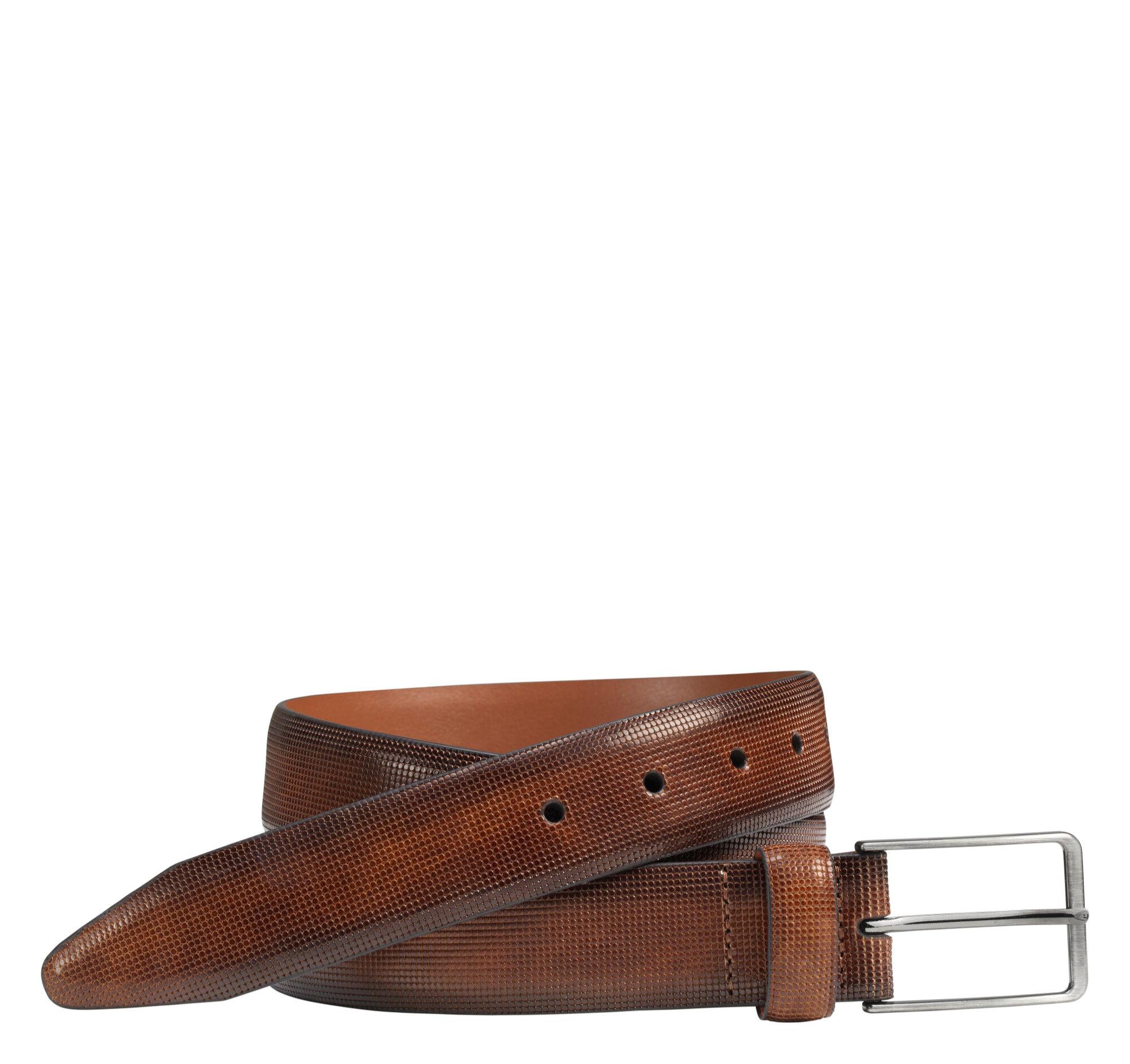 Johnston & Murphy Men's Mini Embossed Belt - Brown - Size 34