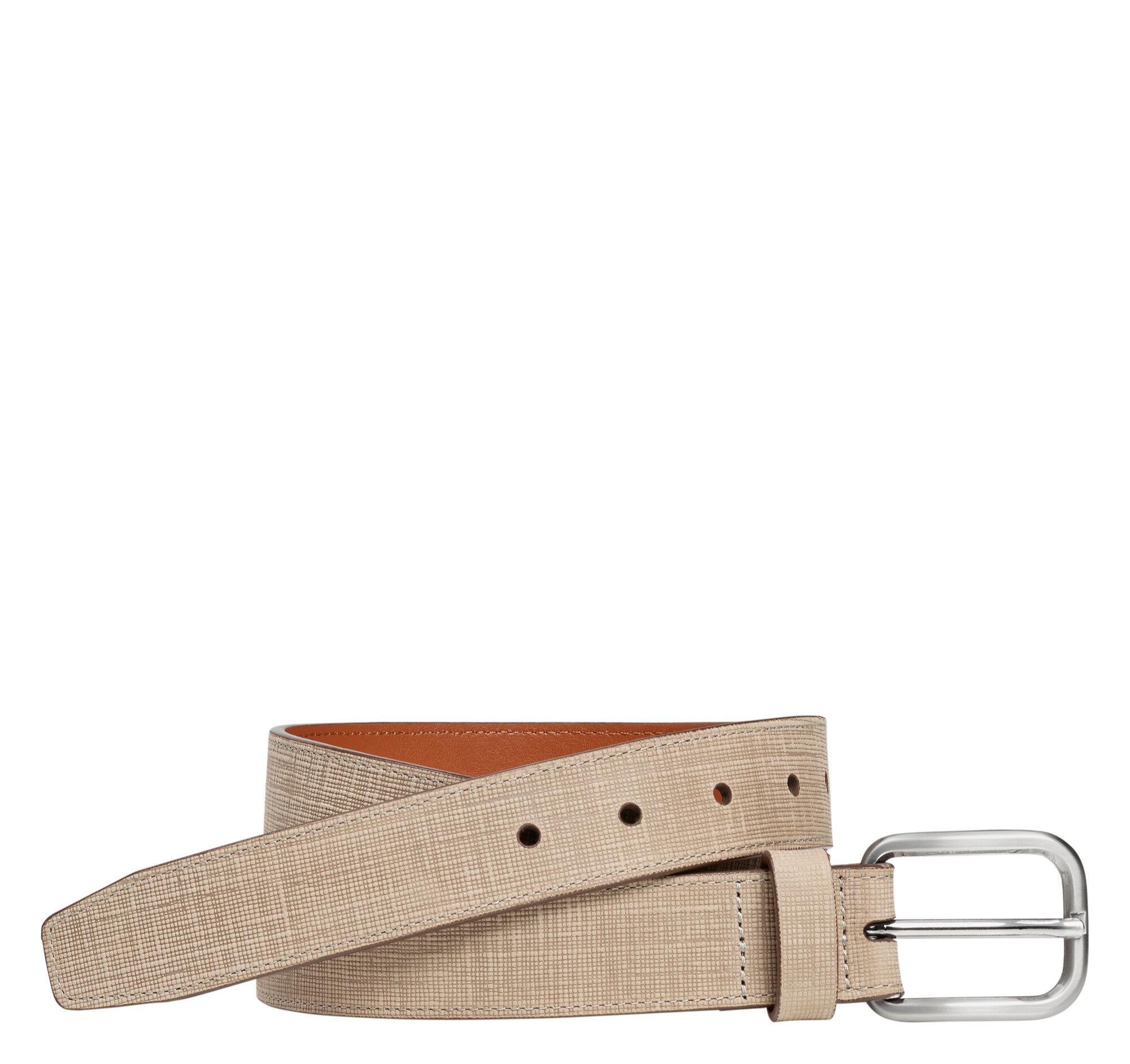 Johnston & Murphy Men's Cross Hatch Embossed Belt - Camel - Size 36