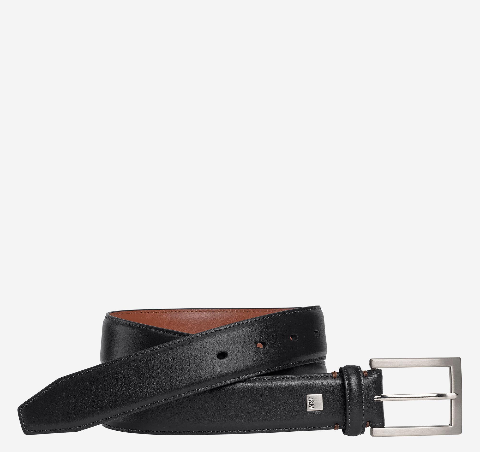 Johnston & Murphy Men's Johnston Murphy Dress Belt - Black - Size 36