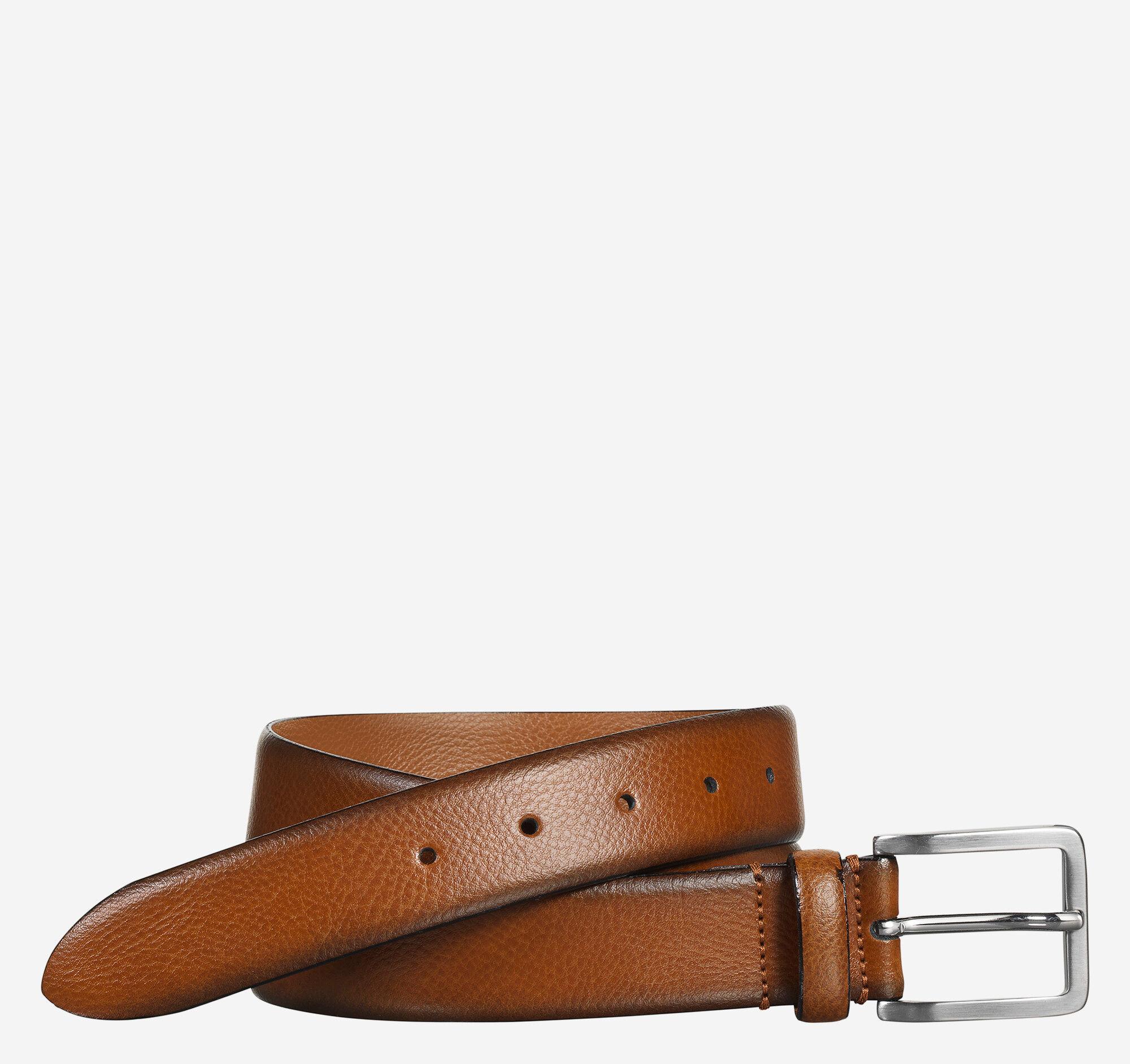 Johnston & Murphy Men's Feather-Edge Dress Belt - Tan - Size 40