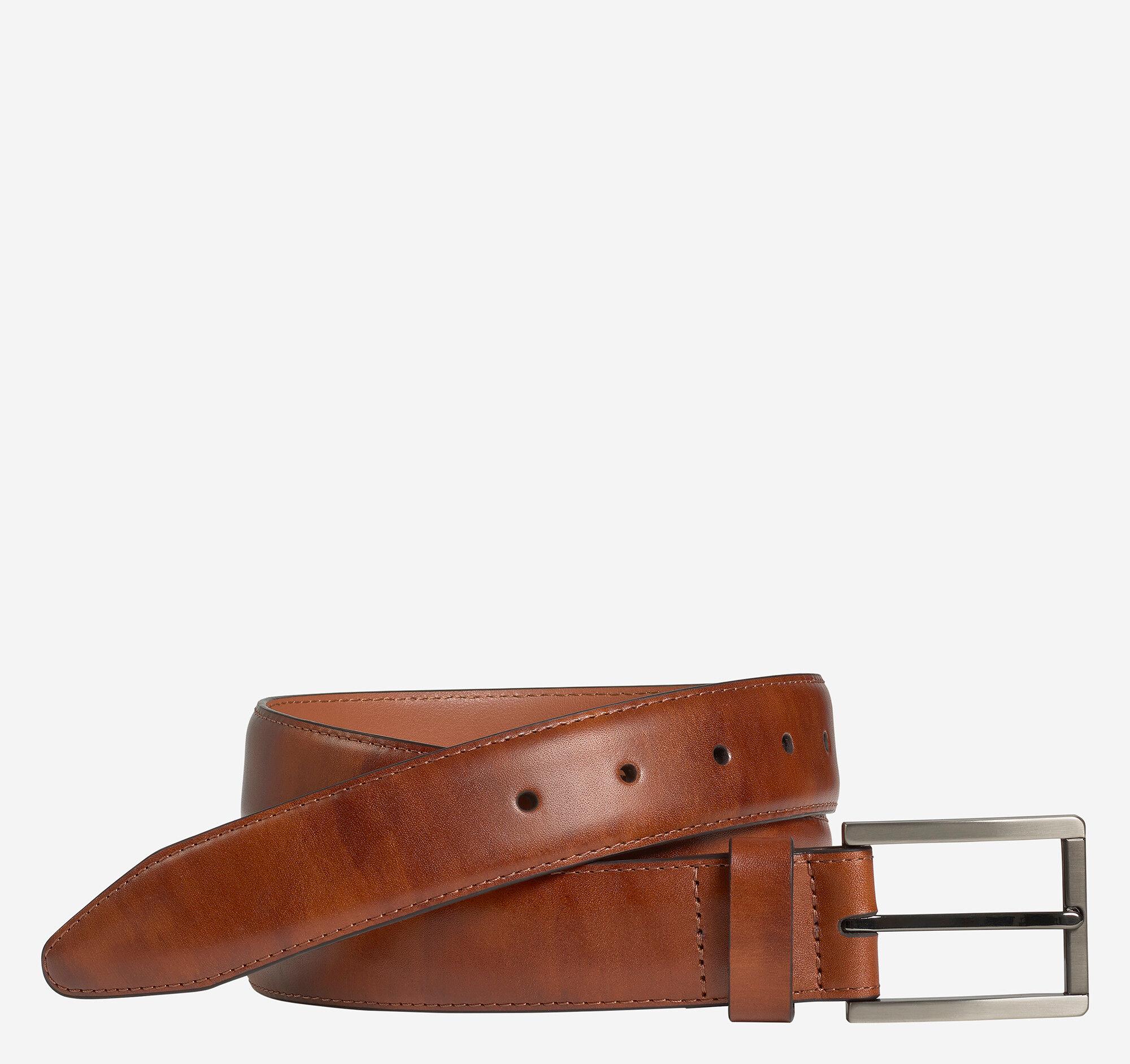 Johnston & Murphy Men's Feather Edge Tonal Belt - Brown - Size 40