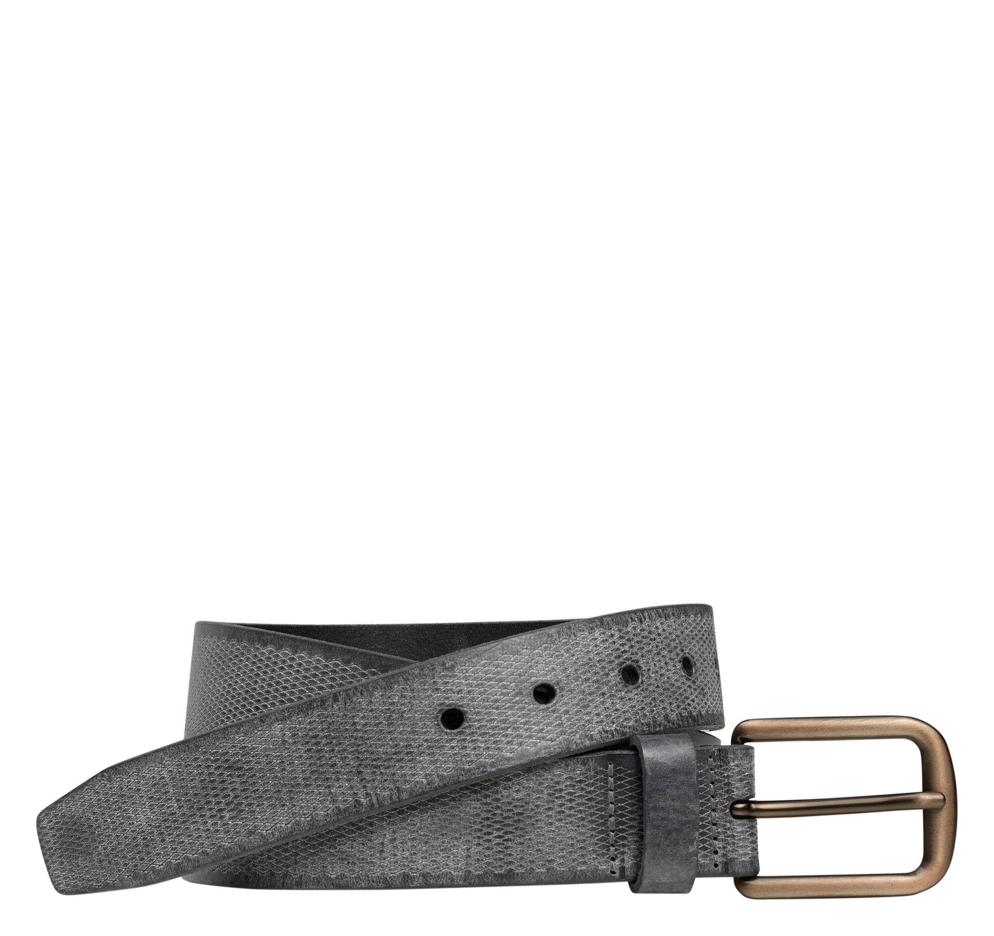 Johnston & Murphy Men's Diamond-Fleck Embossed Belt - Gray - Size 36