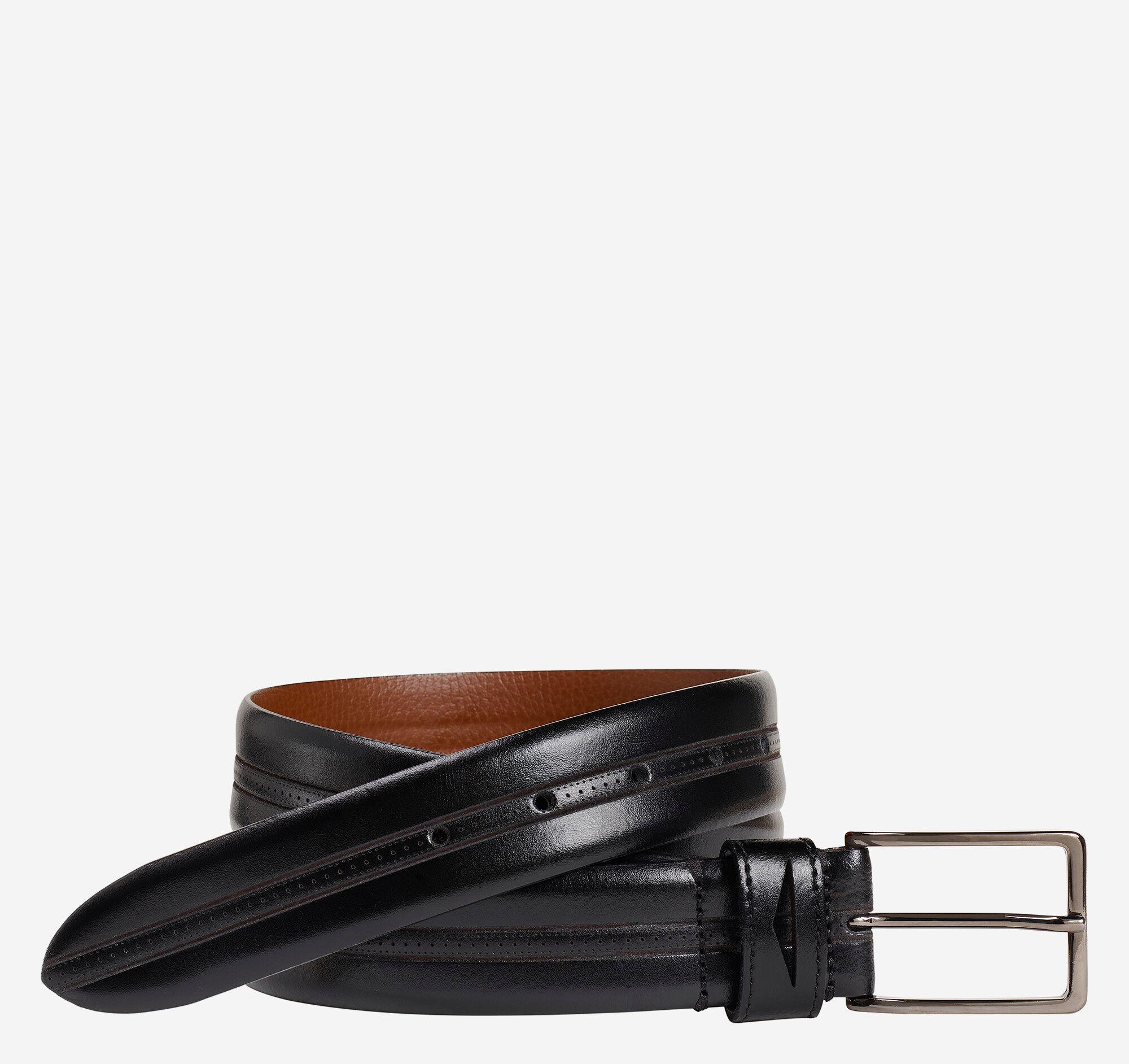 Johnston & Murphy Men's Penny Loop Belt - Black - Size 34