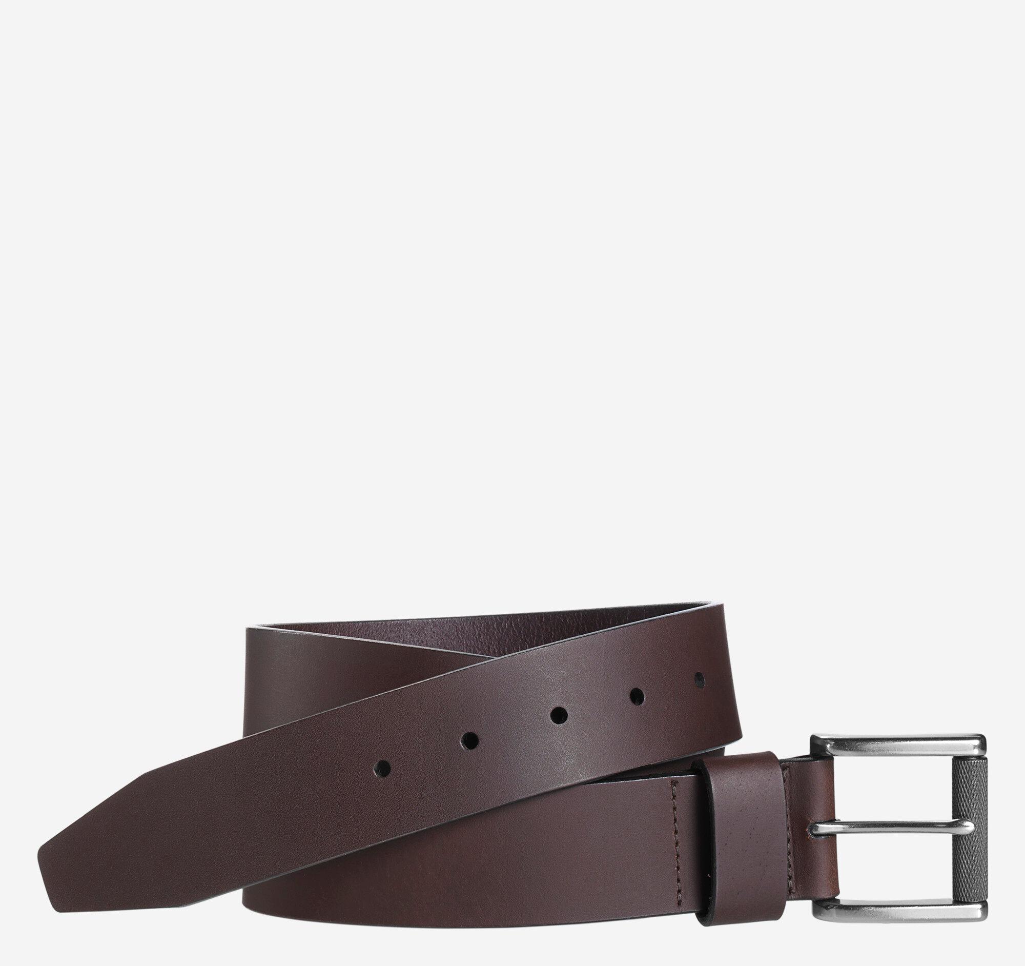 Johnston & Murphy Men's Roller Buckle Belt - Brown - Size 34