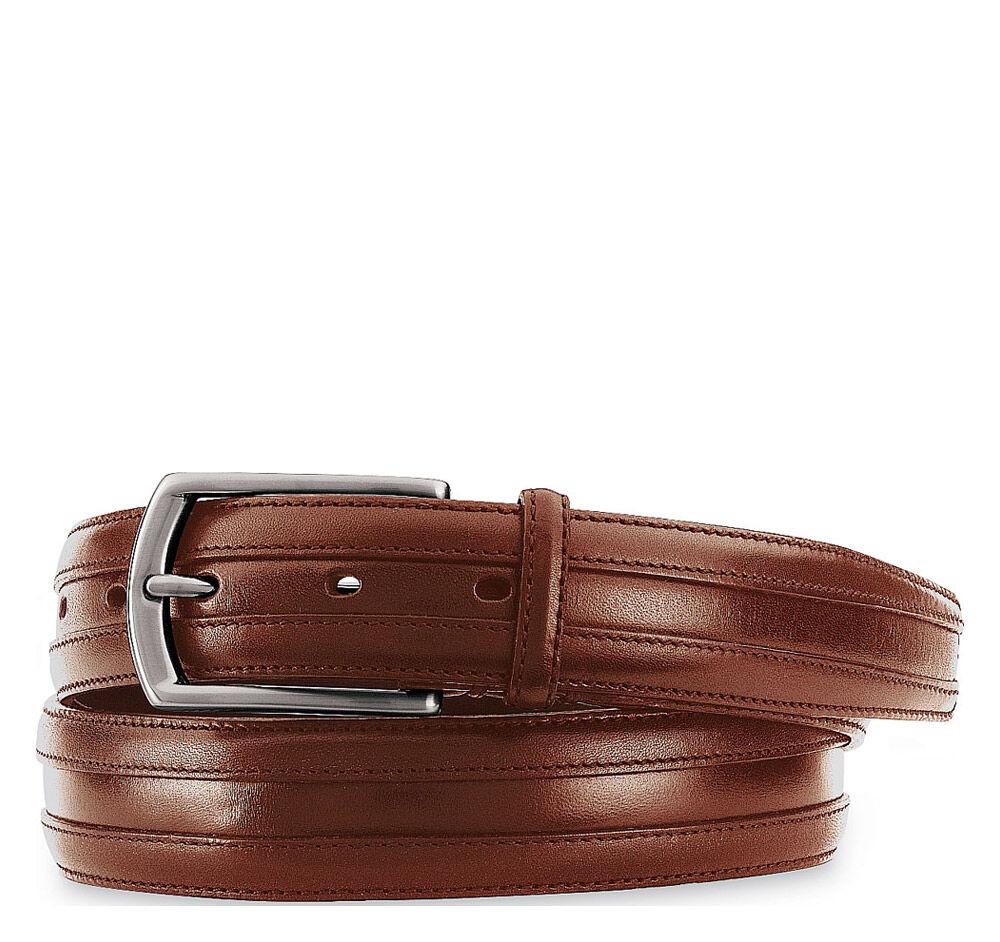 Johnston & Murphy Men's Double Calf Belt - Cognac - Size 34