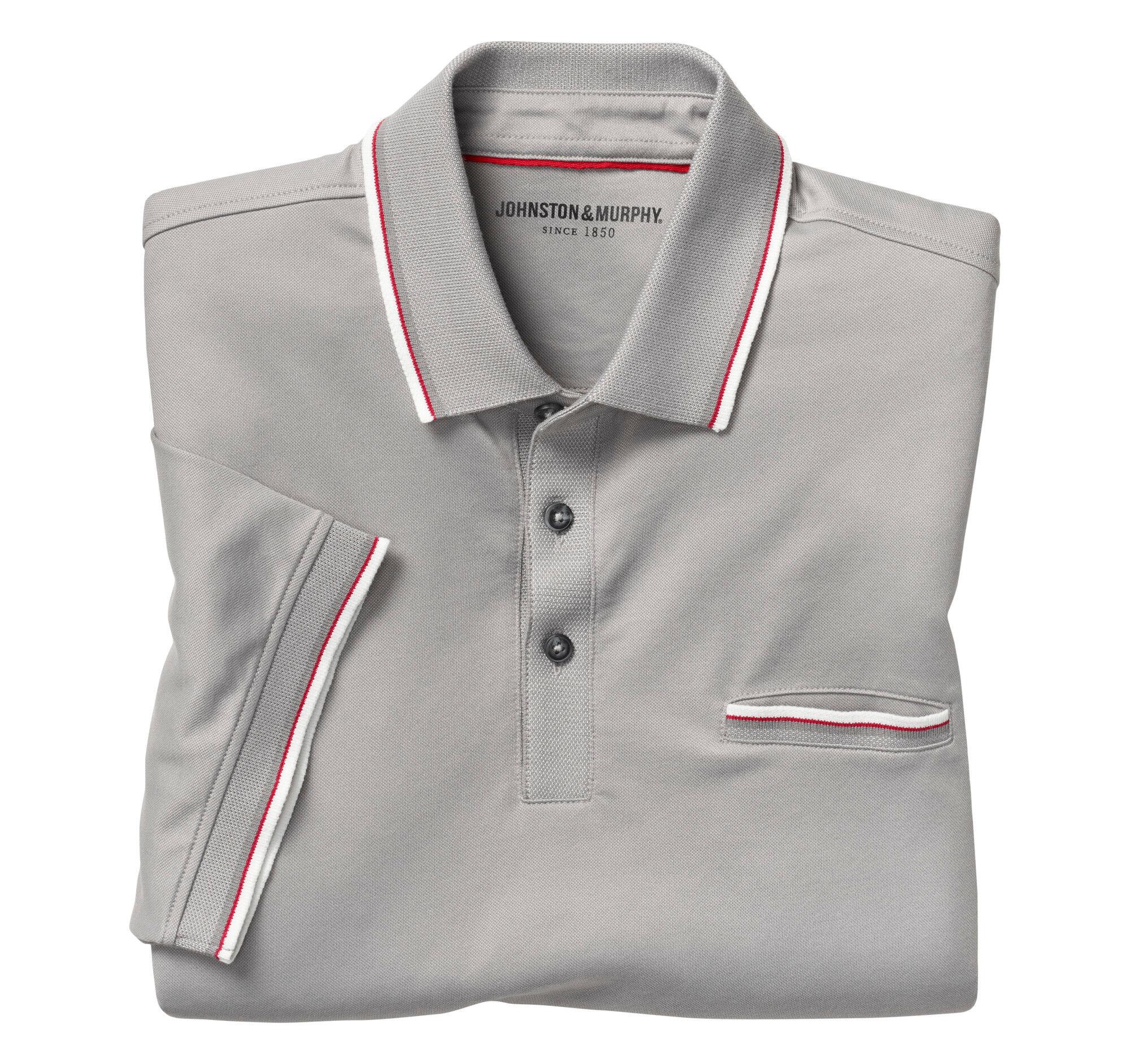 Johnston & Murphy Men's Sport Polo - Charcoal - Size L