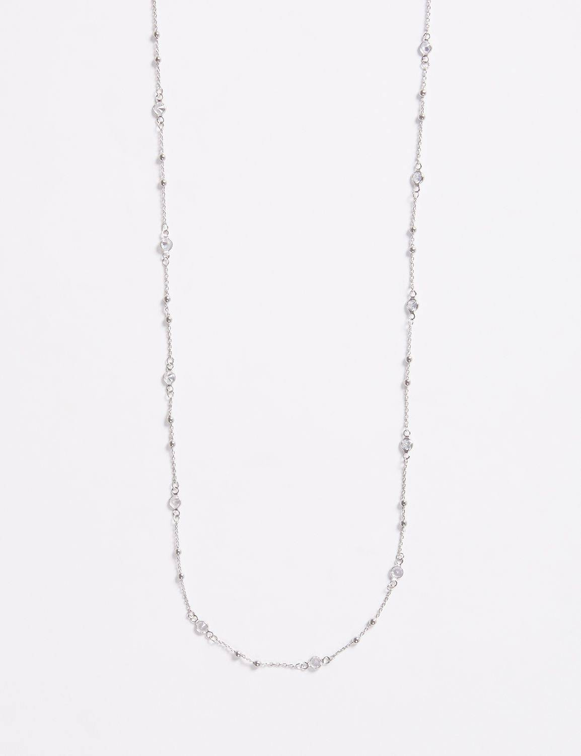 "Lane Bryant Women's 60"" Necklace ONESZ Silver Tone"