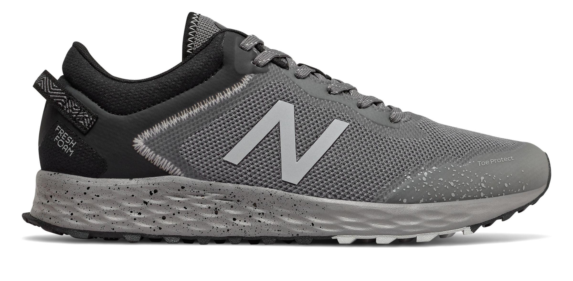 New Balance Men's Fresh Foam Arishi Trail Shoes Grey with Grey & Grey  - Grey with Grey & Grey - Size: 8