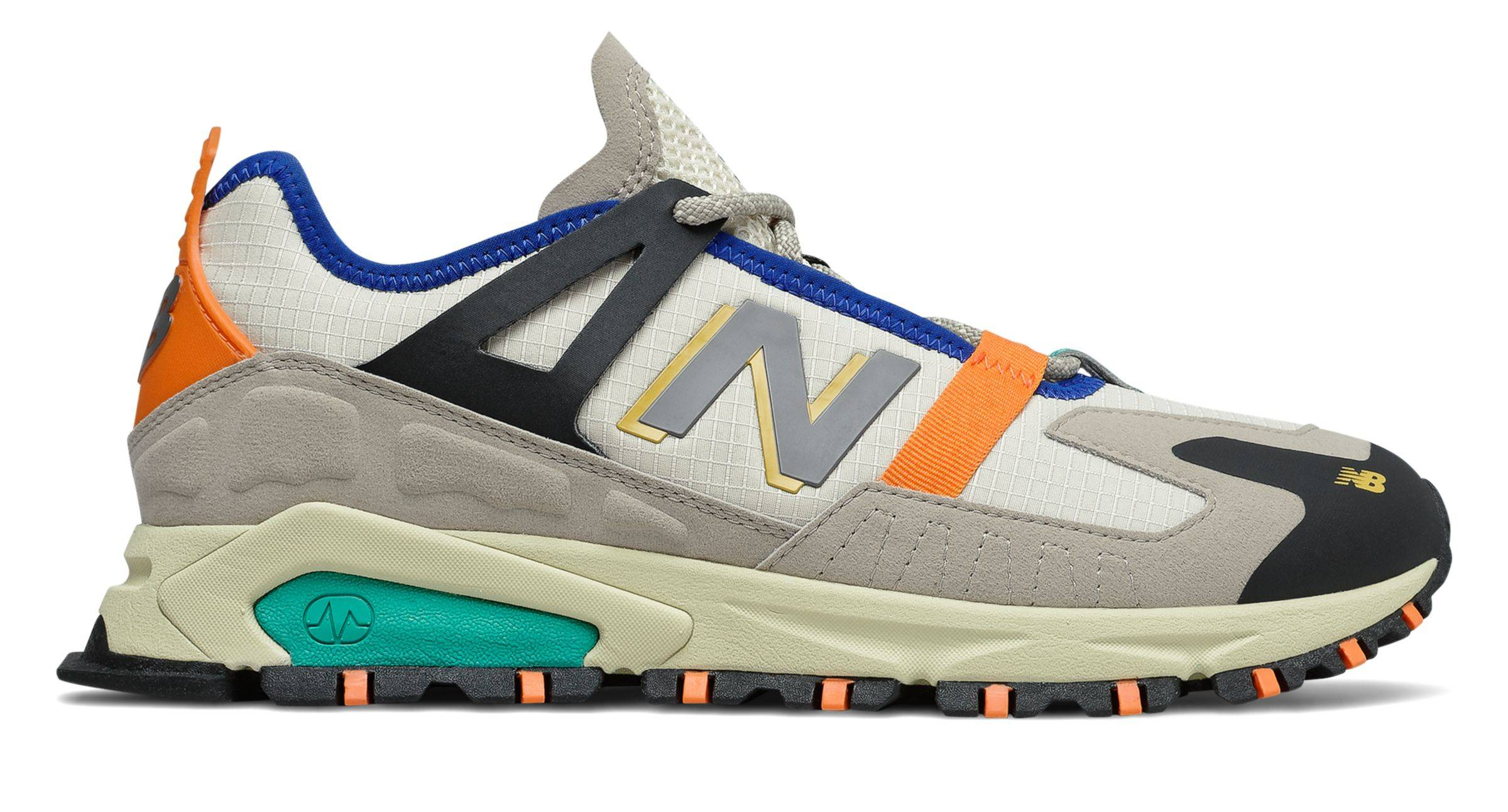 New Balance Men's XRCT Shoes Grey with Green  - Grey with Green - Size: 8