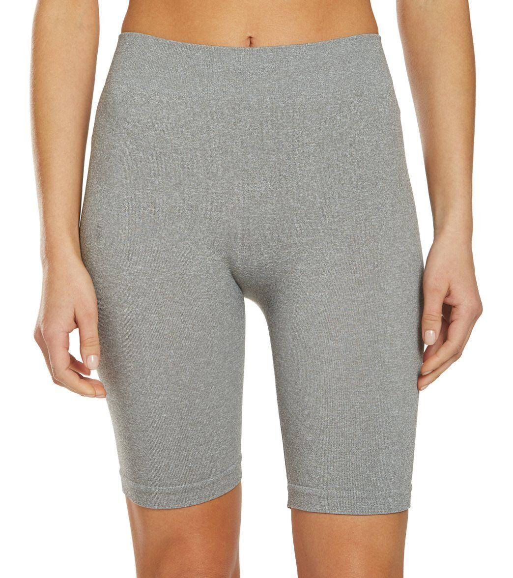 Free People Women's Seamless Bike Shorts - Grey - Medium/Large Spandex