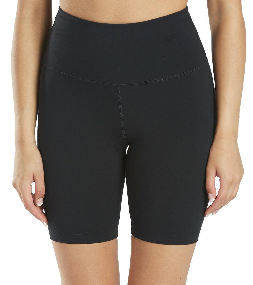 """Everyday Yoga Women's High Waisted 7"""" Bike Shorts - Black Large Spandex"""
