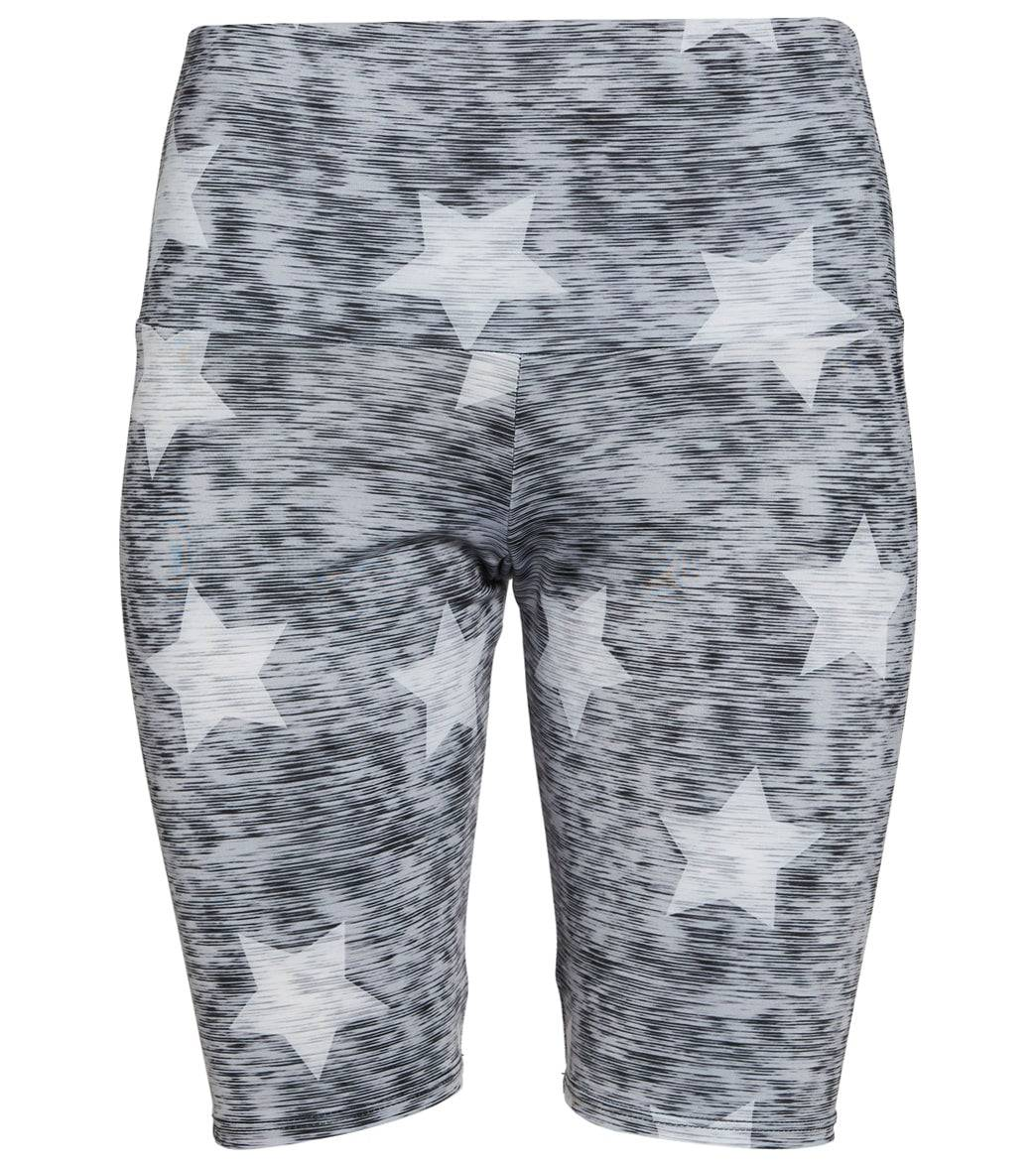 Onzie Women's High Rise Bike Shorts - Heathered Star - ML Spandex