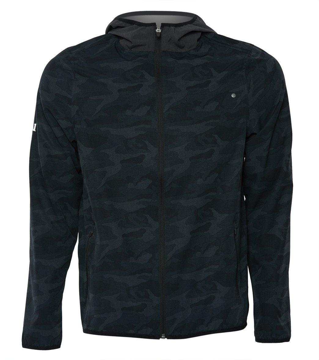 Vuori Men's Outdoor Trainer Shell - Camo Black - Medium Spandex Moisture Wicking