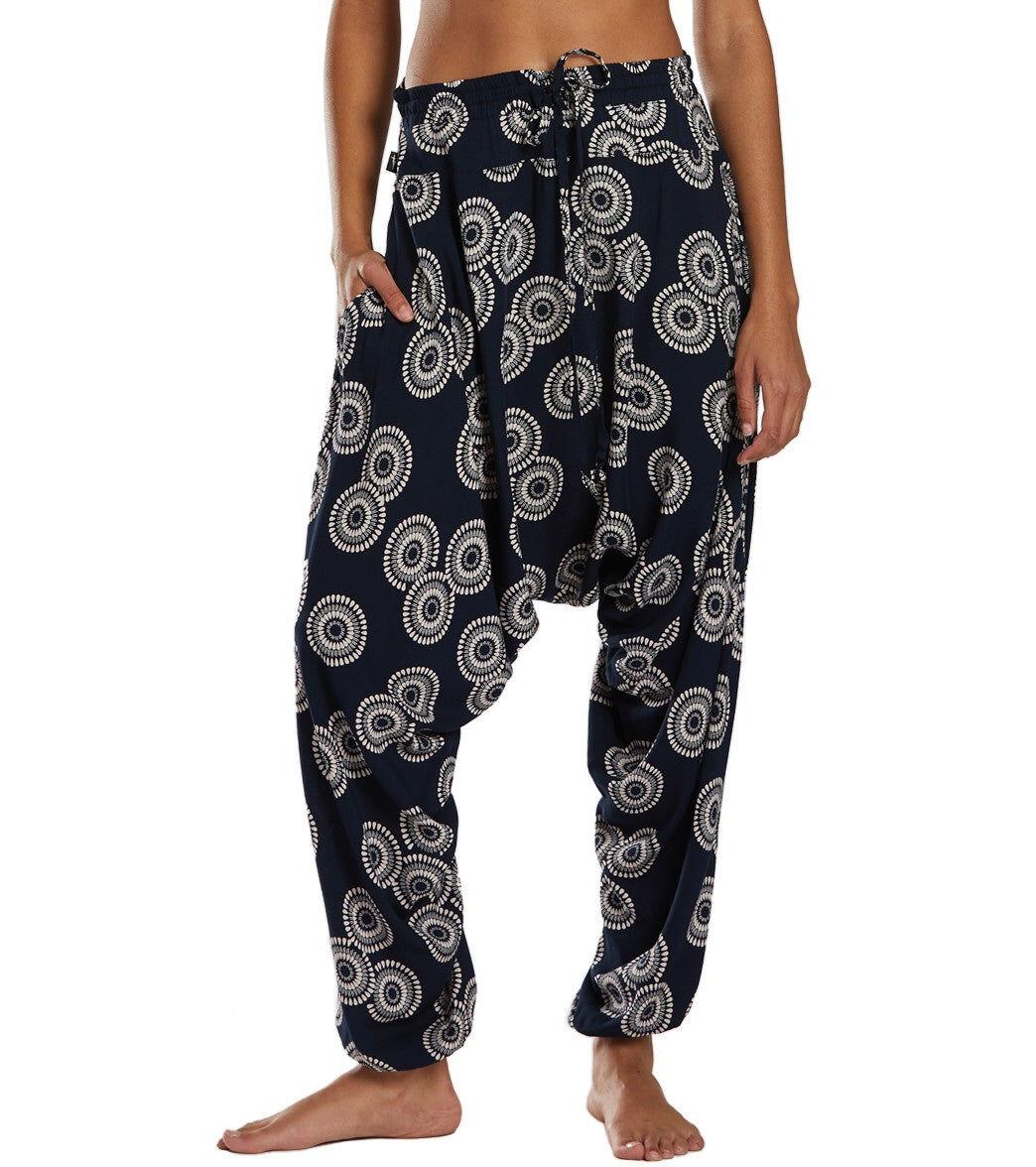 Buddha Pants Women's Sunshine Harem - Navy Blue Large Cotton