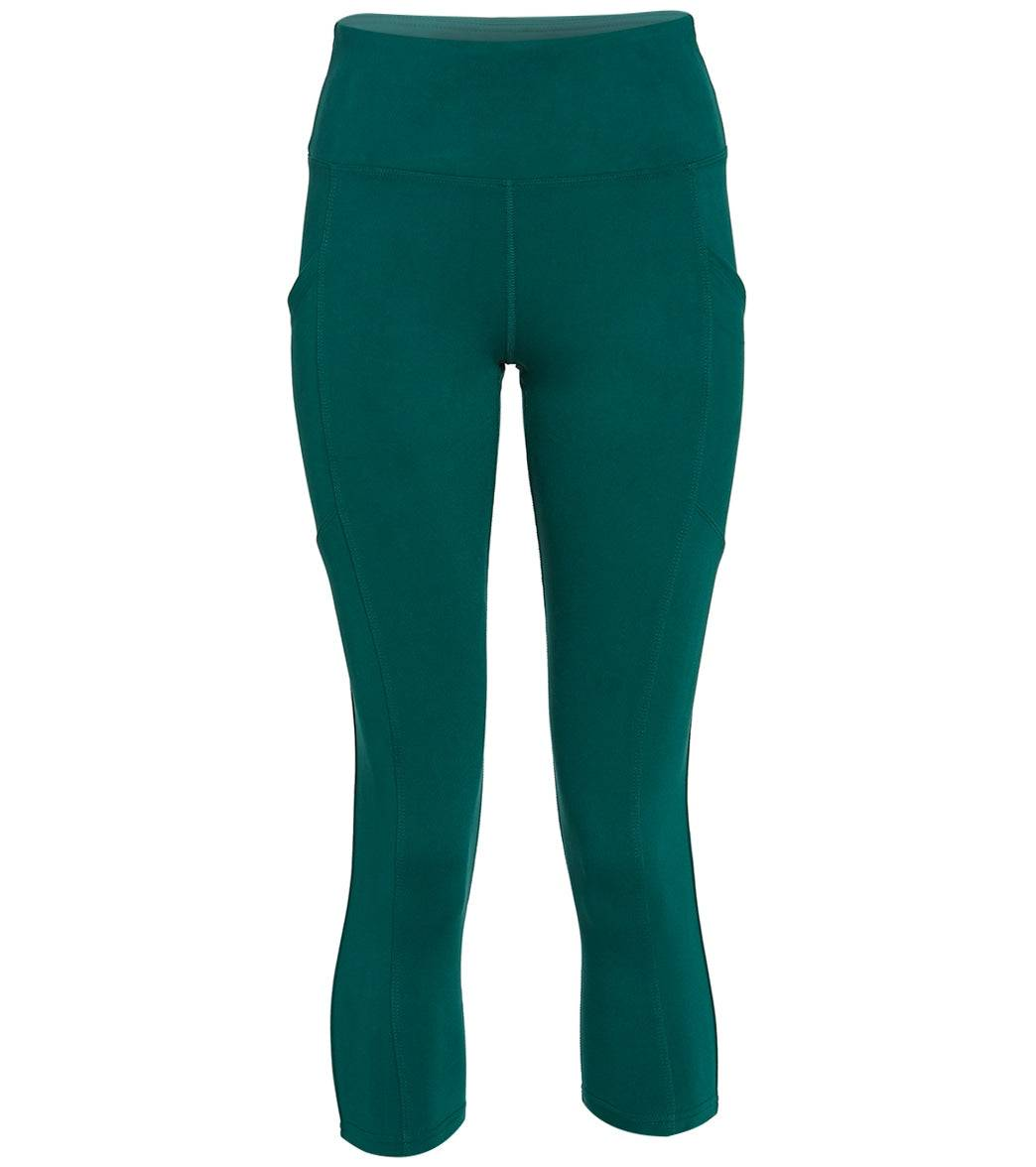 Balance Collection Women's Eclipse Yoga Capri Pants - Botanical Garden Medium Cotton