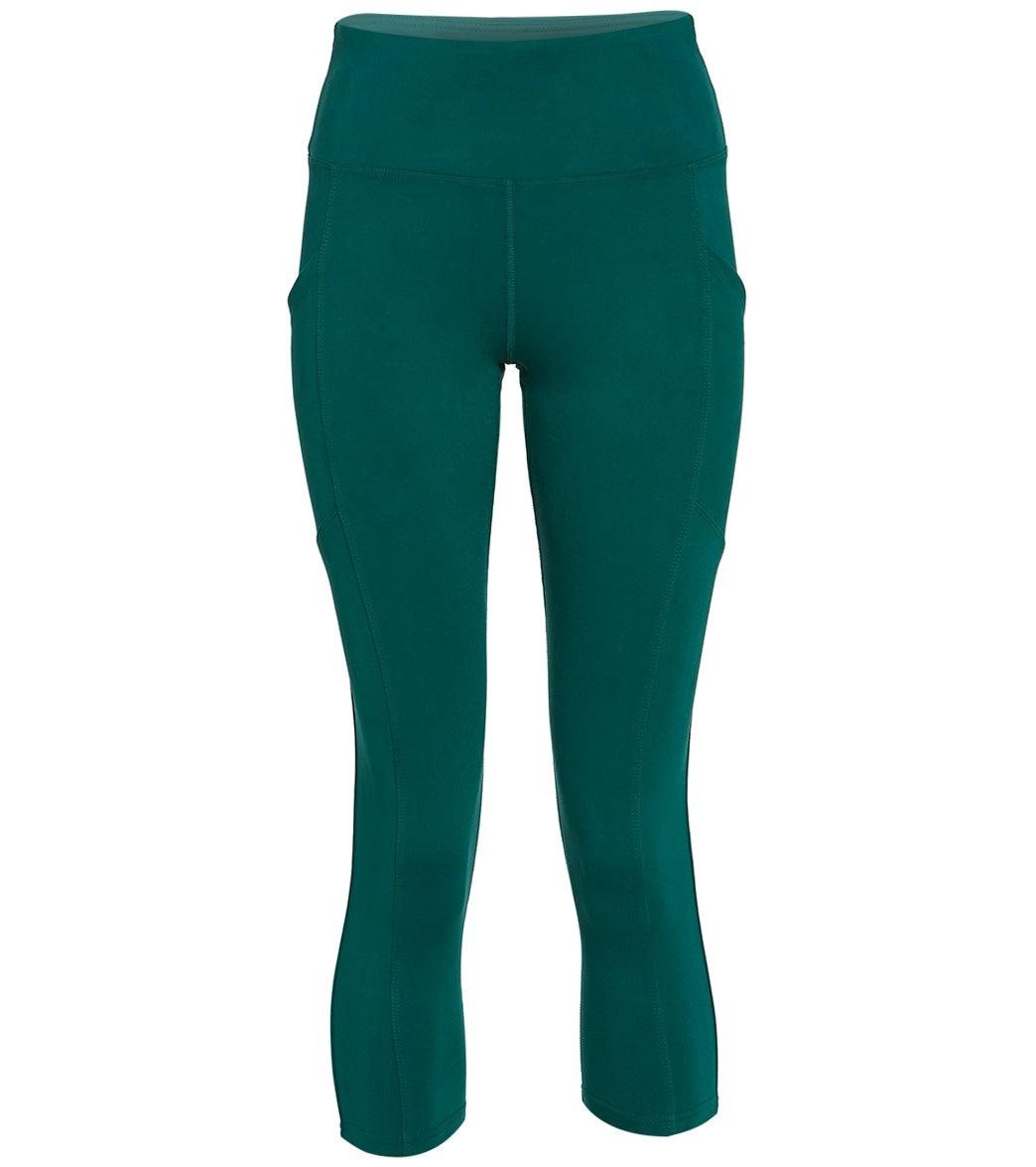 Balance Collection Women's Eclipse Yoga Capri Pants - Botanical Garden Large Cotton