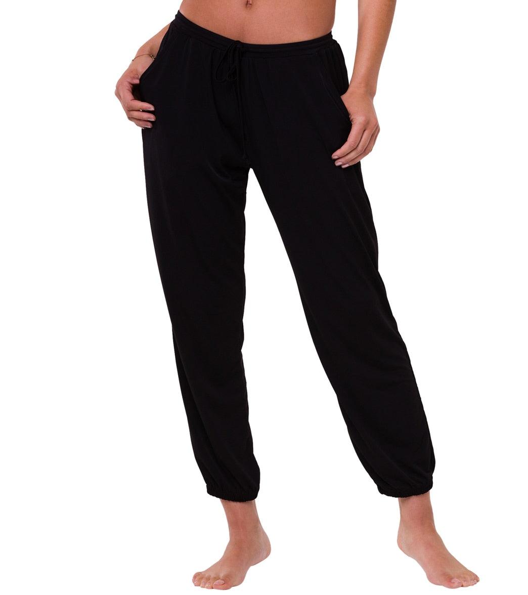 Onzie Women's Fleece Sweatpants - Black ML Spandex