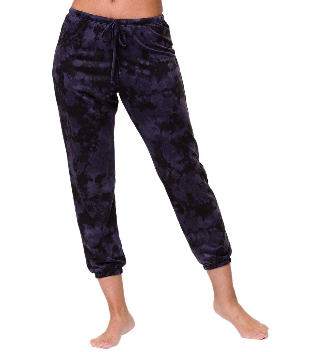 Onzie Women's Fleece Sweatpants - AMETHYST TIE DYE ML Spandex