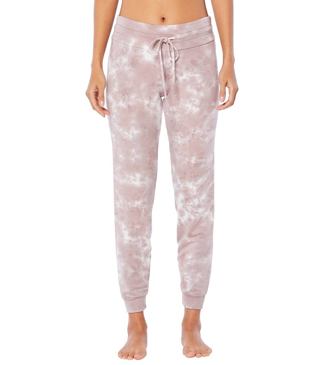 Beyond Yoga Women's Garment Dye Lounge Around Jogger Pants - Rose Cloud Large Spandex