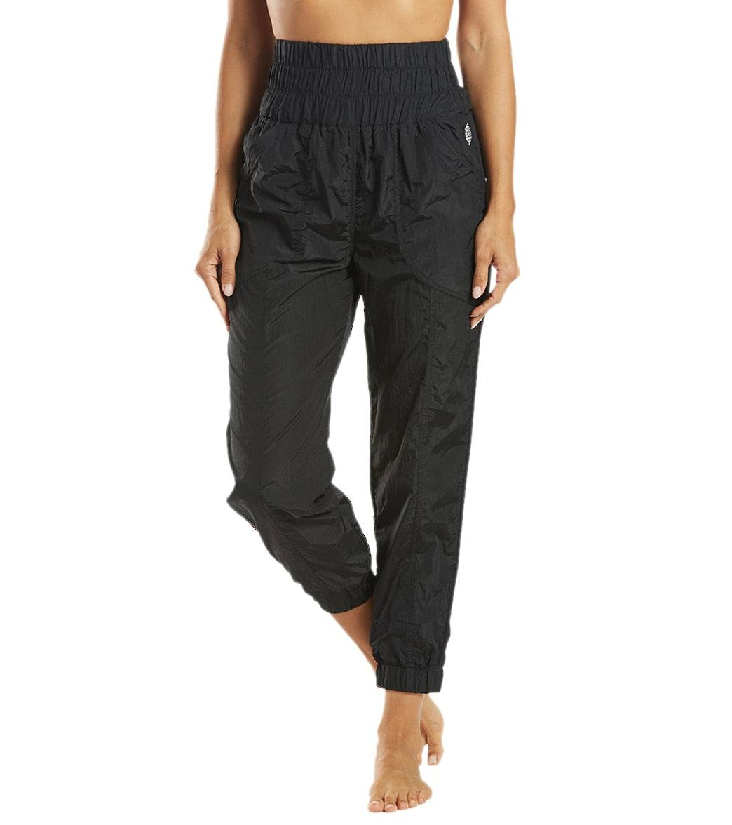 Free People Women's The Way Home Jogger Pants - Black - Large Spandex
