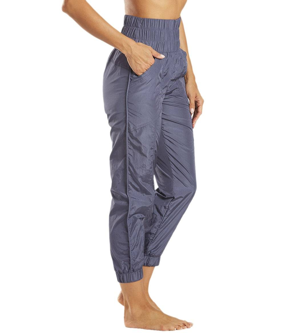 Free People Women's The Way Home Jogger Pants - Deep Sea - Large Spandex