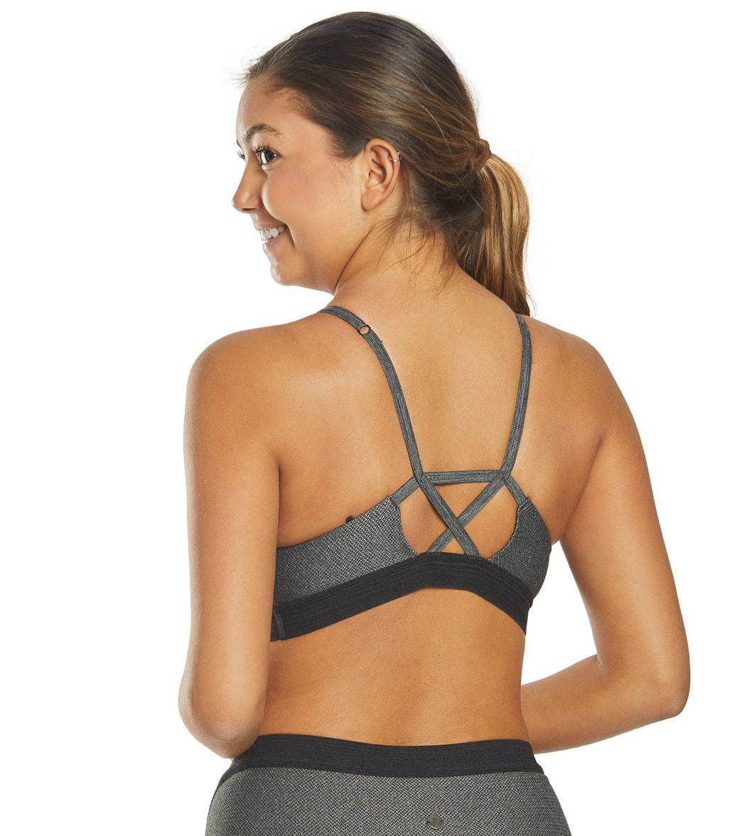 prAna Women's Elisha Yoga Sports Bra - Moon Light Large Cotton Shirt Moisture Wicking