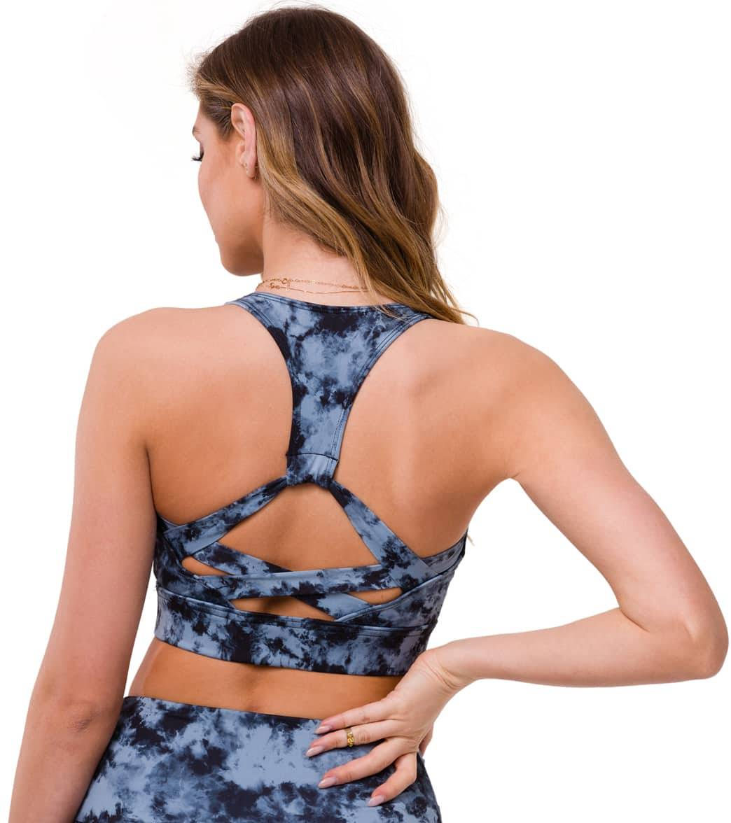 Onzie Women's Warrior Yoga Sports Bra - Wash Moonstone Acid SM Spandex