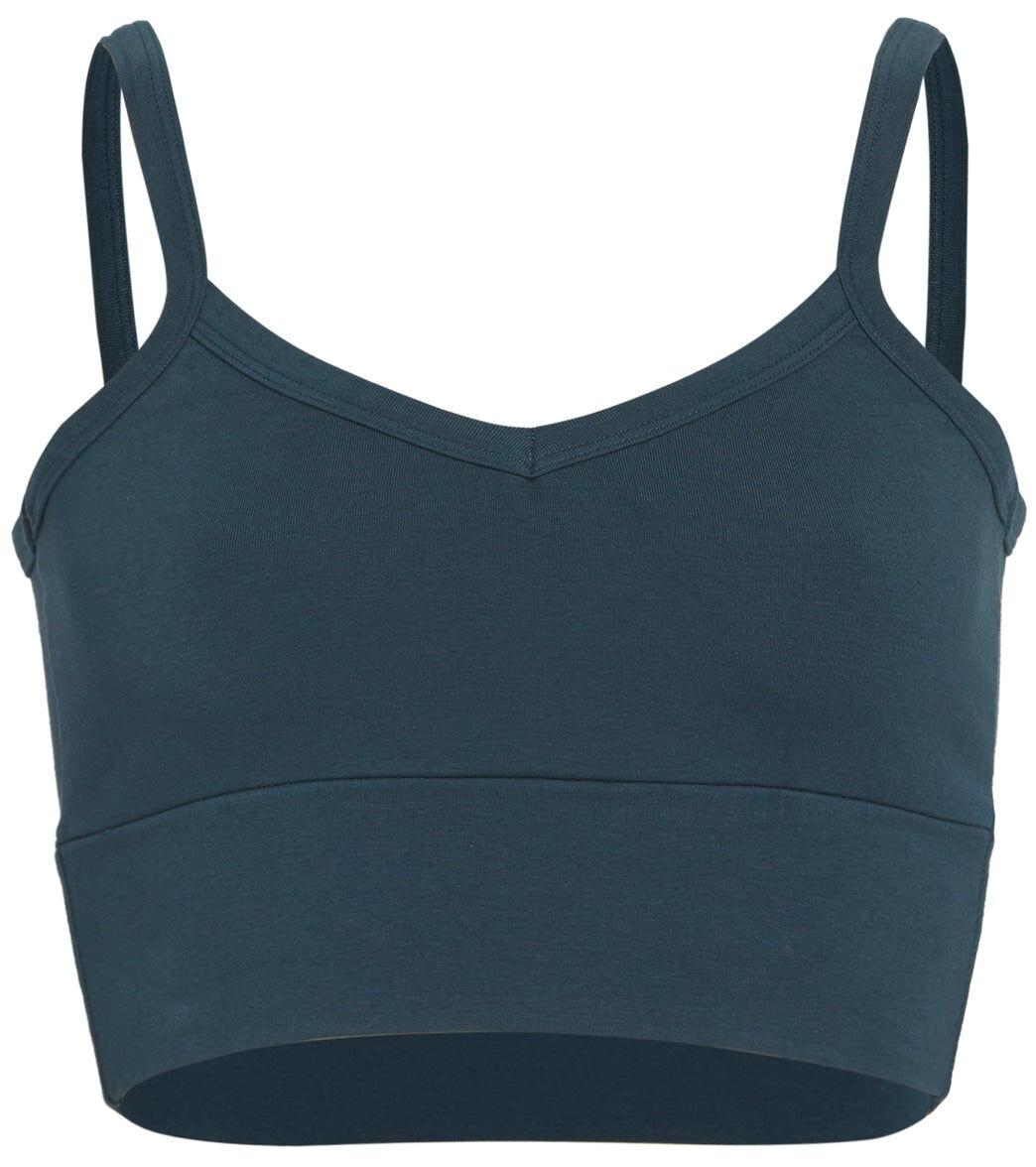 Hard Tail Women's Low Back V Yoga Sports Bra - Palmetto Large