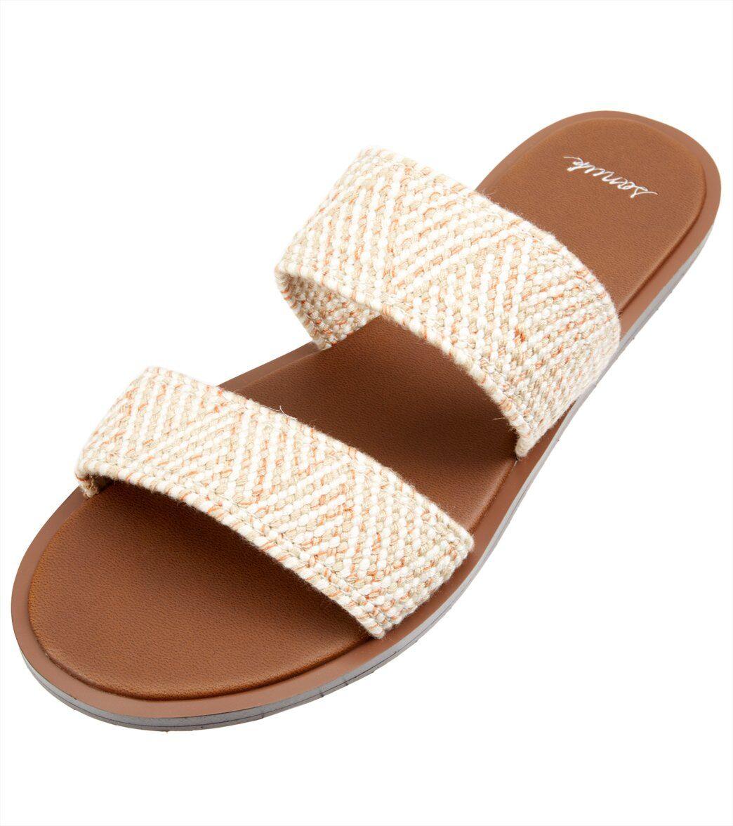 Sanuk Women's Yoga Gora TX Slide Sandal - Natural 10 Rubber