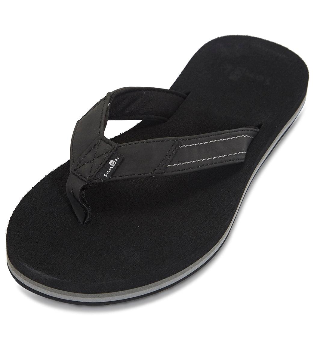 Sanuk Women's Yoga Mat Stacker Flip Flop - Black 10
